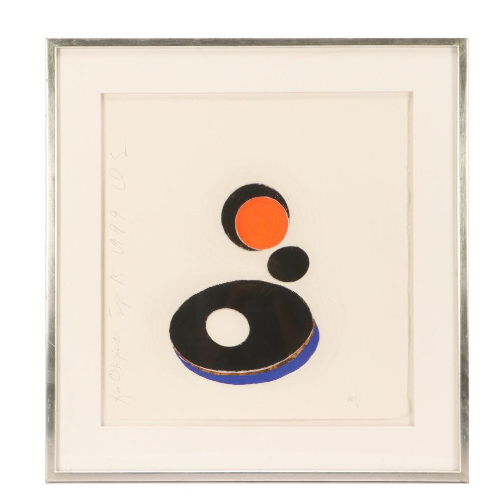 """Donald Sultan Silkscreen Print """"Five Objects, Sept 15,1999"""""""