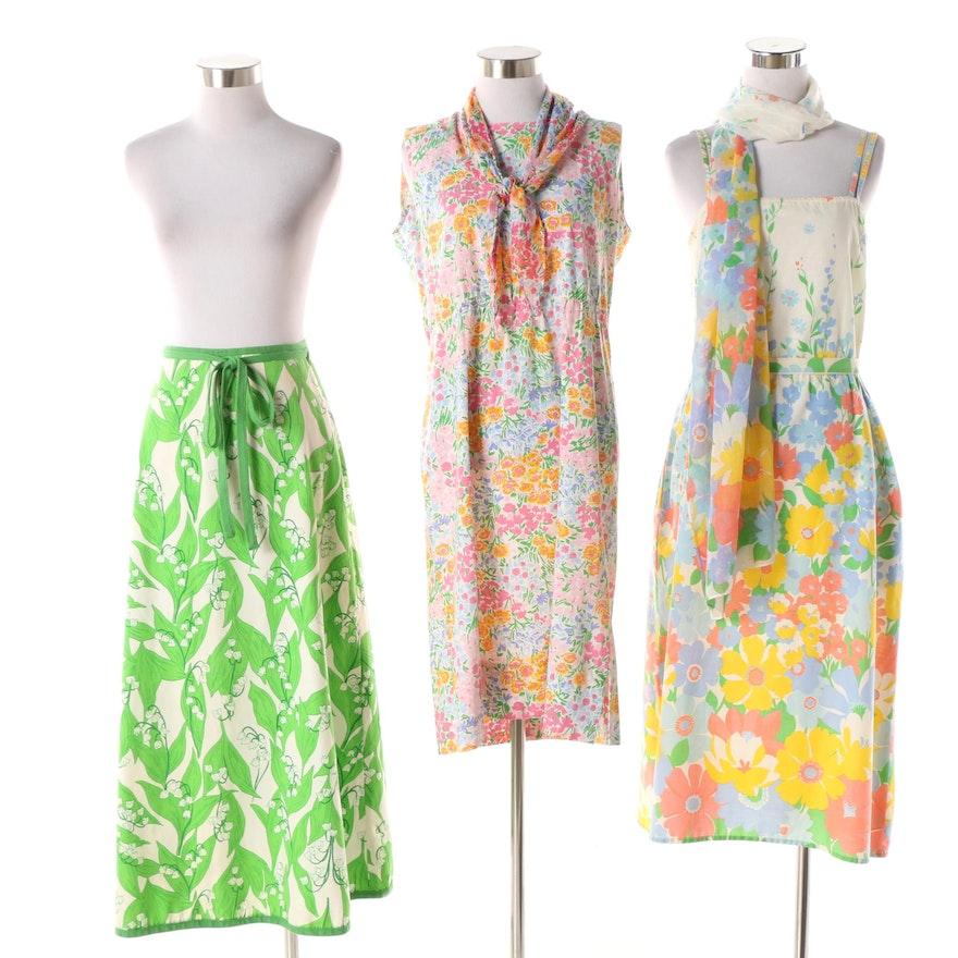 44ee1677cc87 Circa 1960s Floral Dresses and Wrap Skirt | EBTH