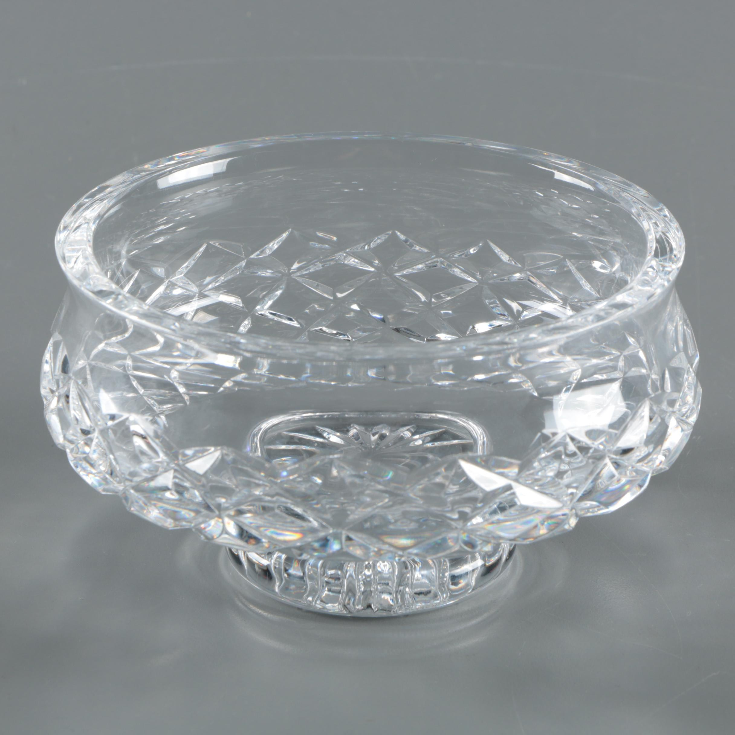 """Waterford Crystal """"Comeragh"""" Footed Bowl"""
