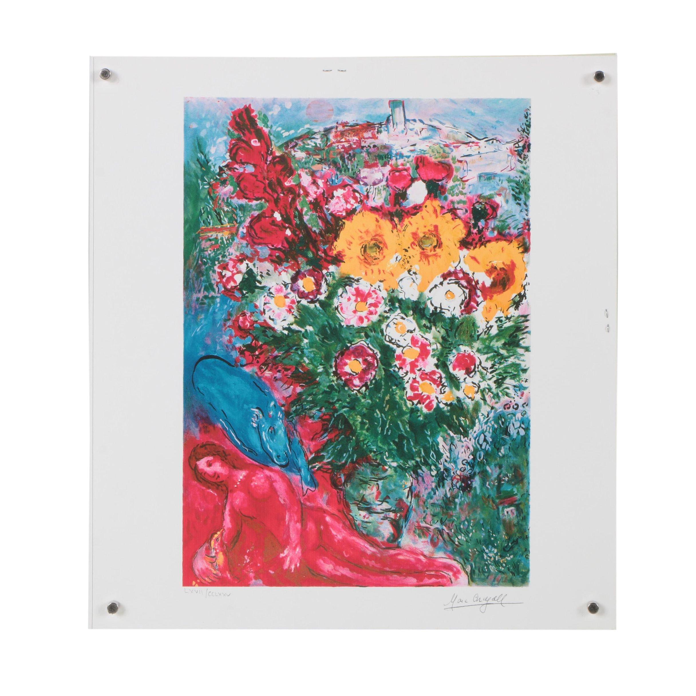 """Giclée after Marc Chagall """"Les Soucis"""""""