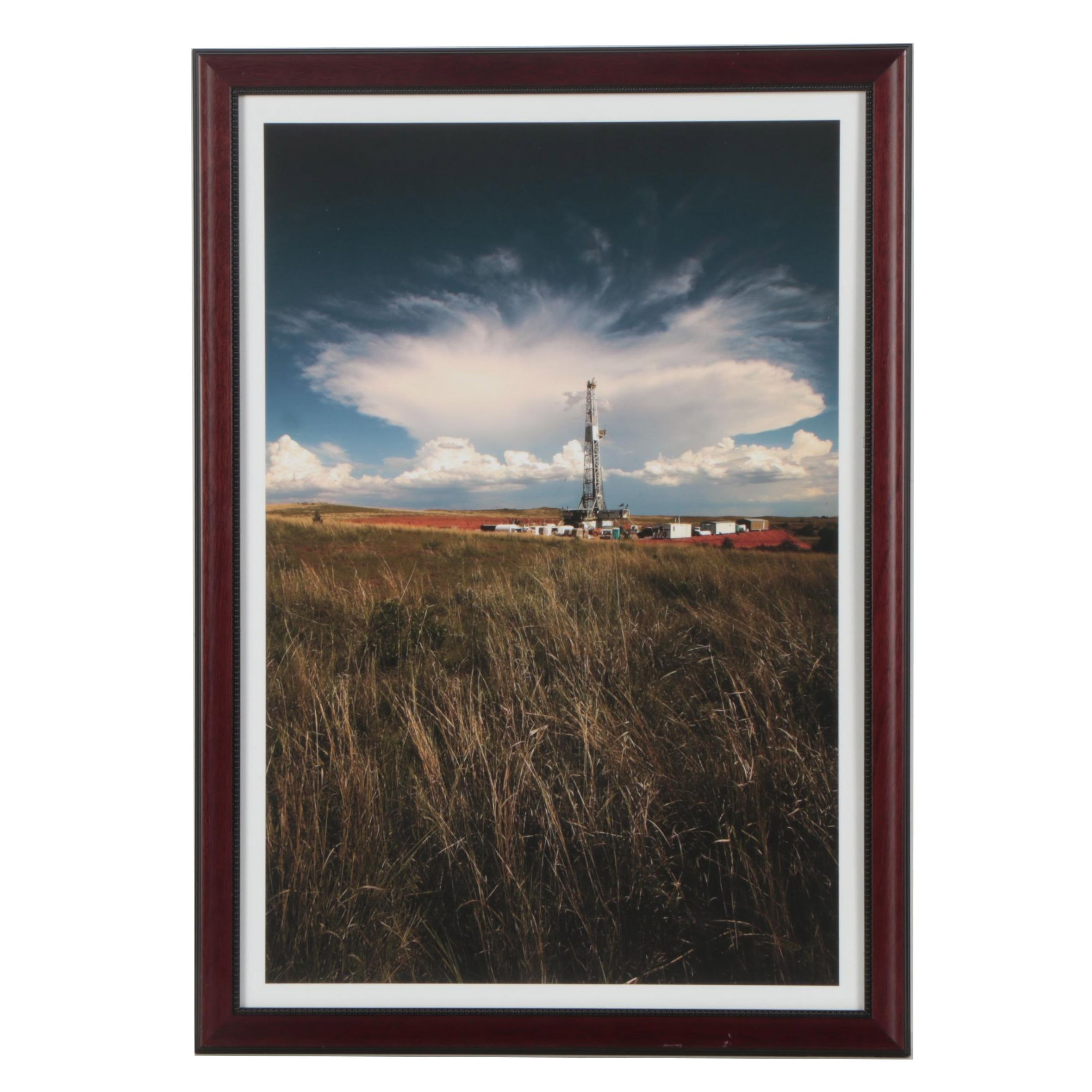 "Jeff Heger Digital Photograph ""Rig in Field of Tall Grass"""