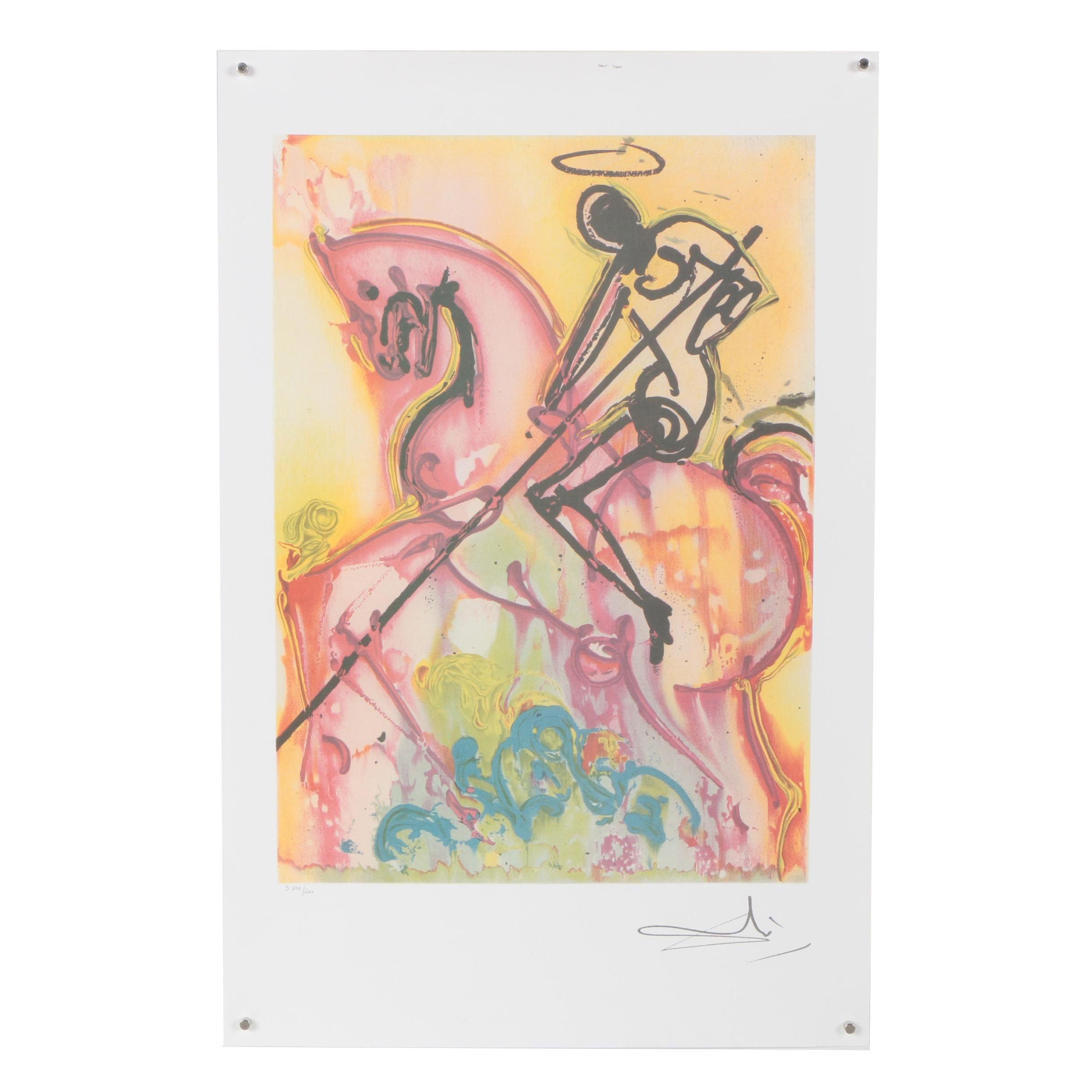 "Offset Lithograph after Salvador Dalí ""Saint George"""