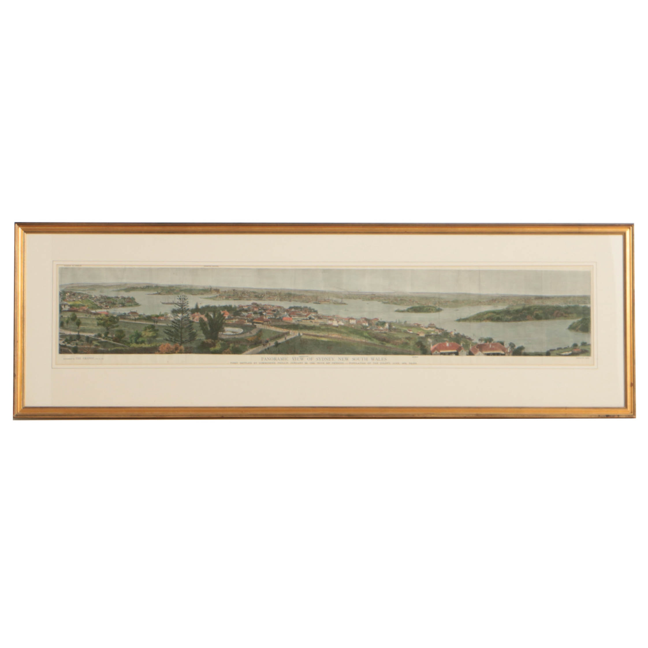 H. Harrall Late 19th Century Wood Engraving of Sydney, New South Wales