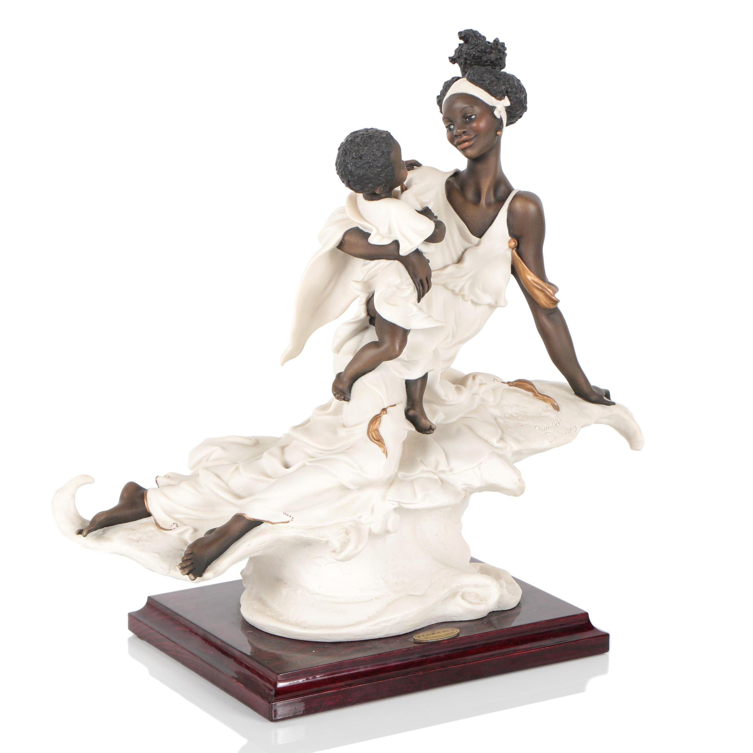 "Giuseppe Armani ""Black Maternity"" Resin Sculpture, 1993"