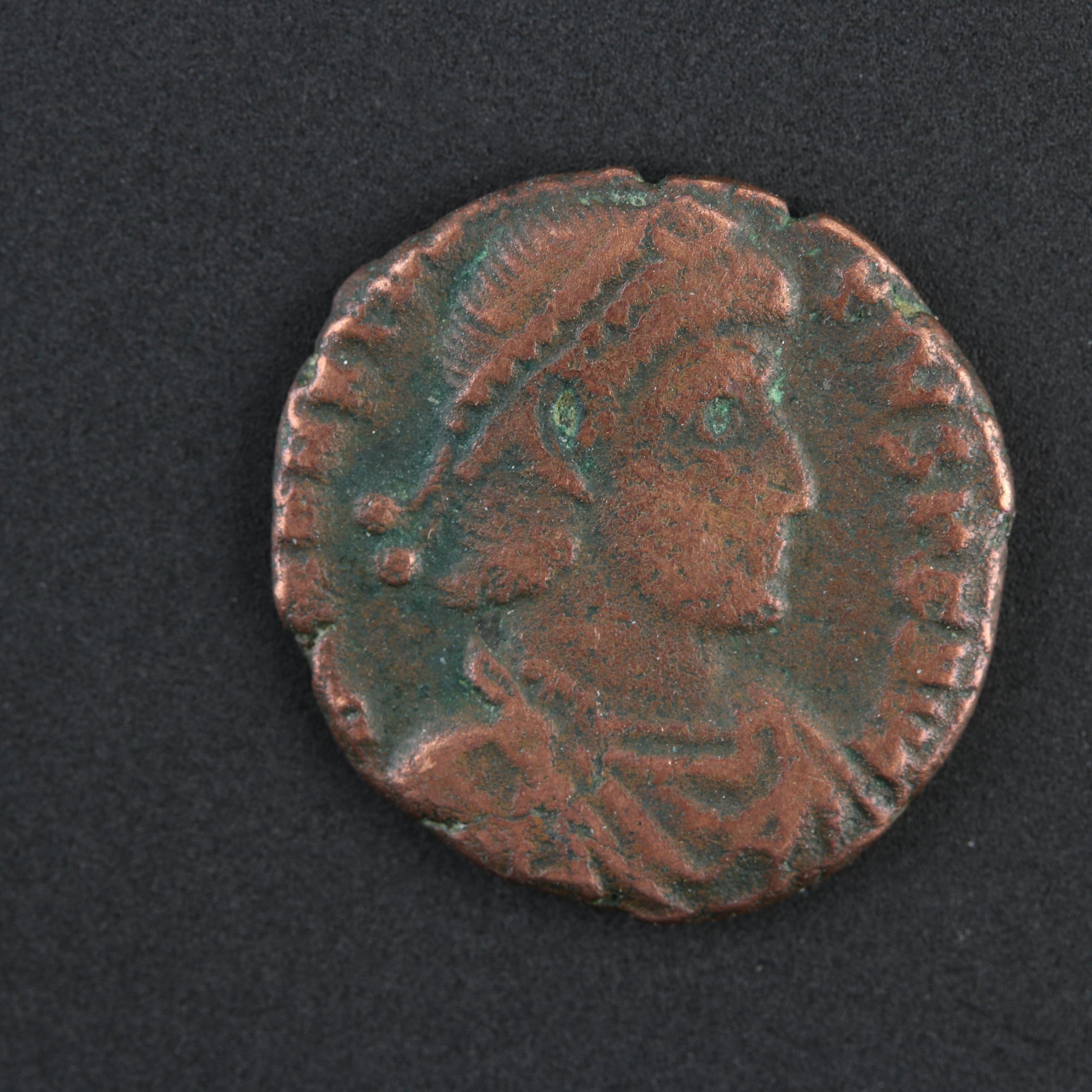 Ancient Roman Copper Constantius II Coin Circa 337-361 AD
