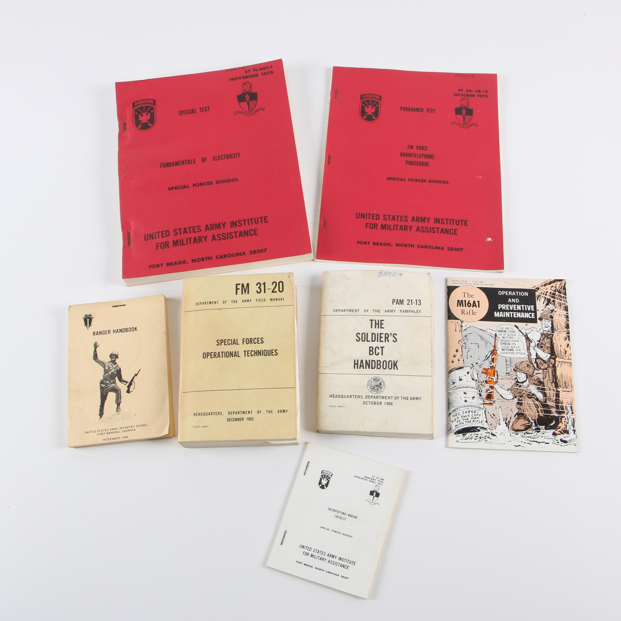 Vintage United States Army Handbooks and Guides