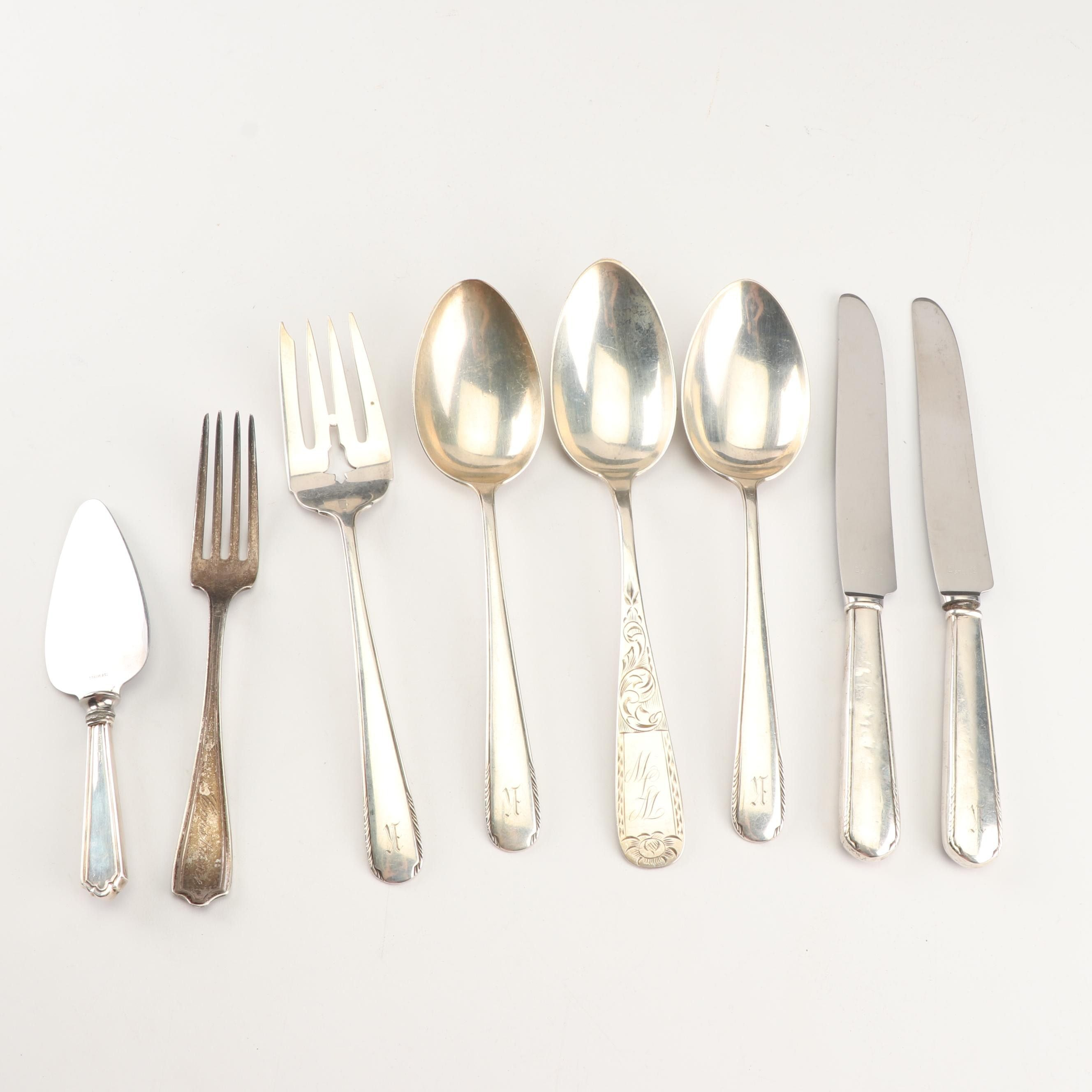Sterling Silver Flatware and Serving Utensils featuring Manchester Silver Co.