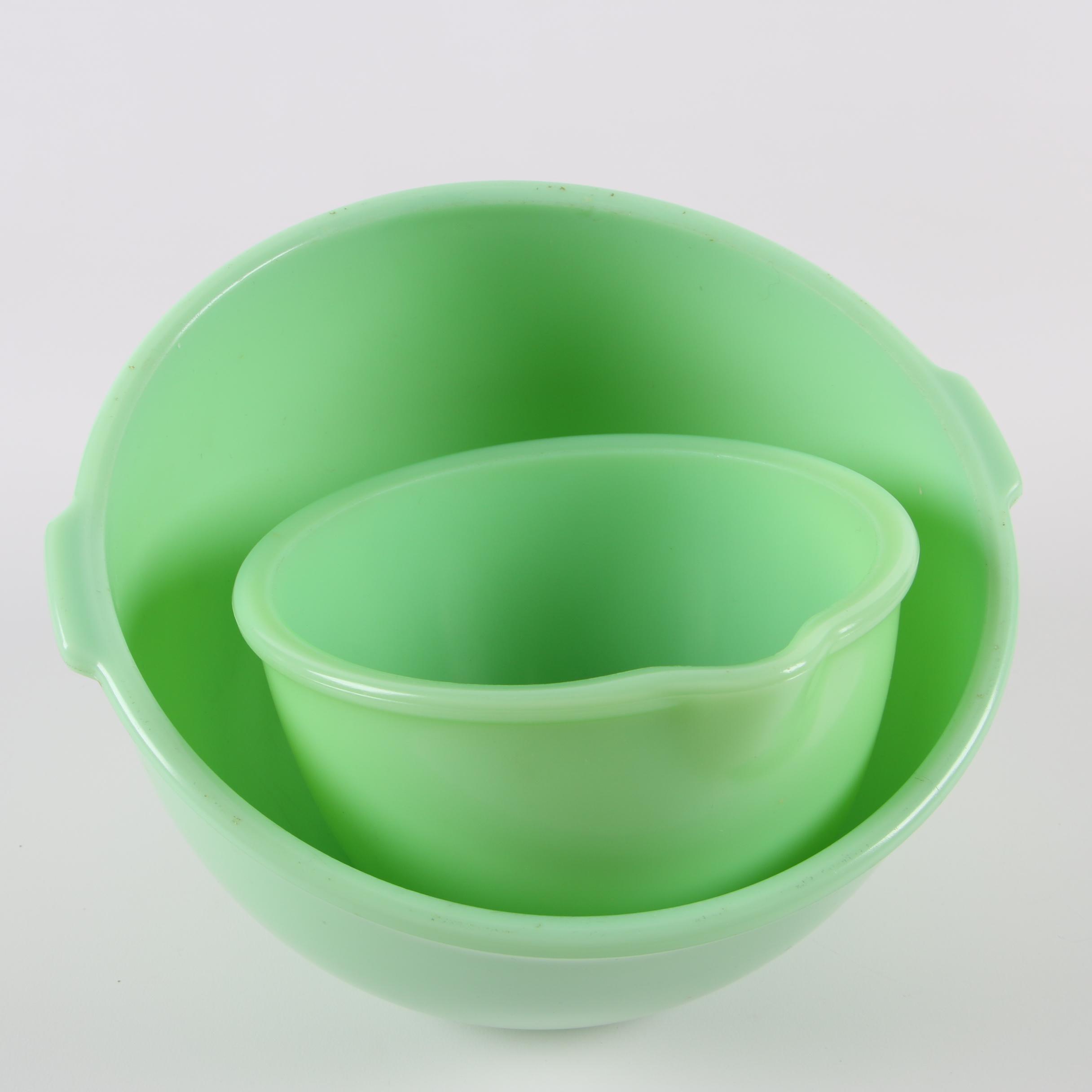 Vintage Jadeite Glass Mixing Bowls