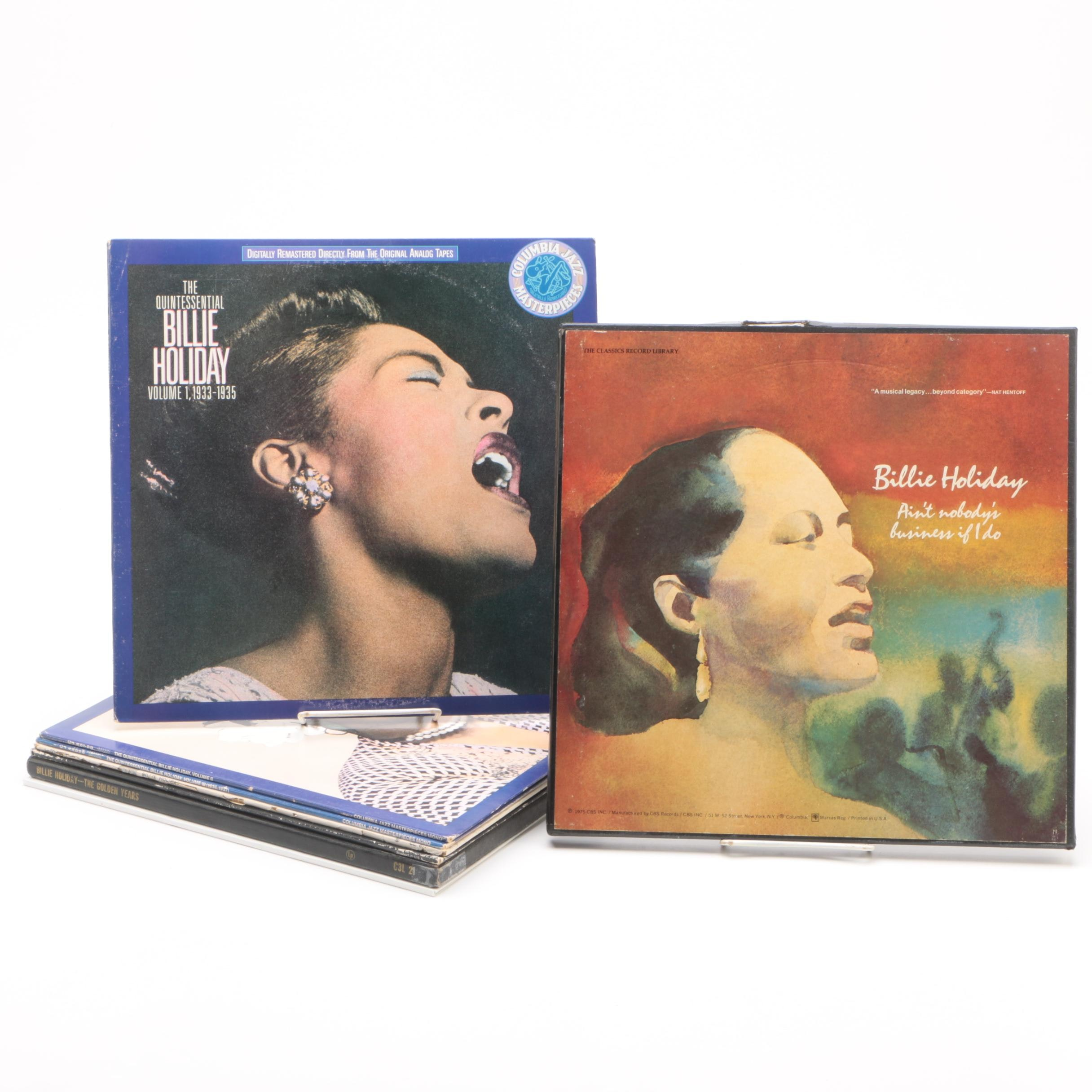 Billie Holiday Vinyl Records Including Aint Nobodys Business If I