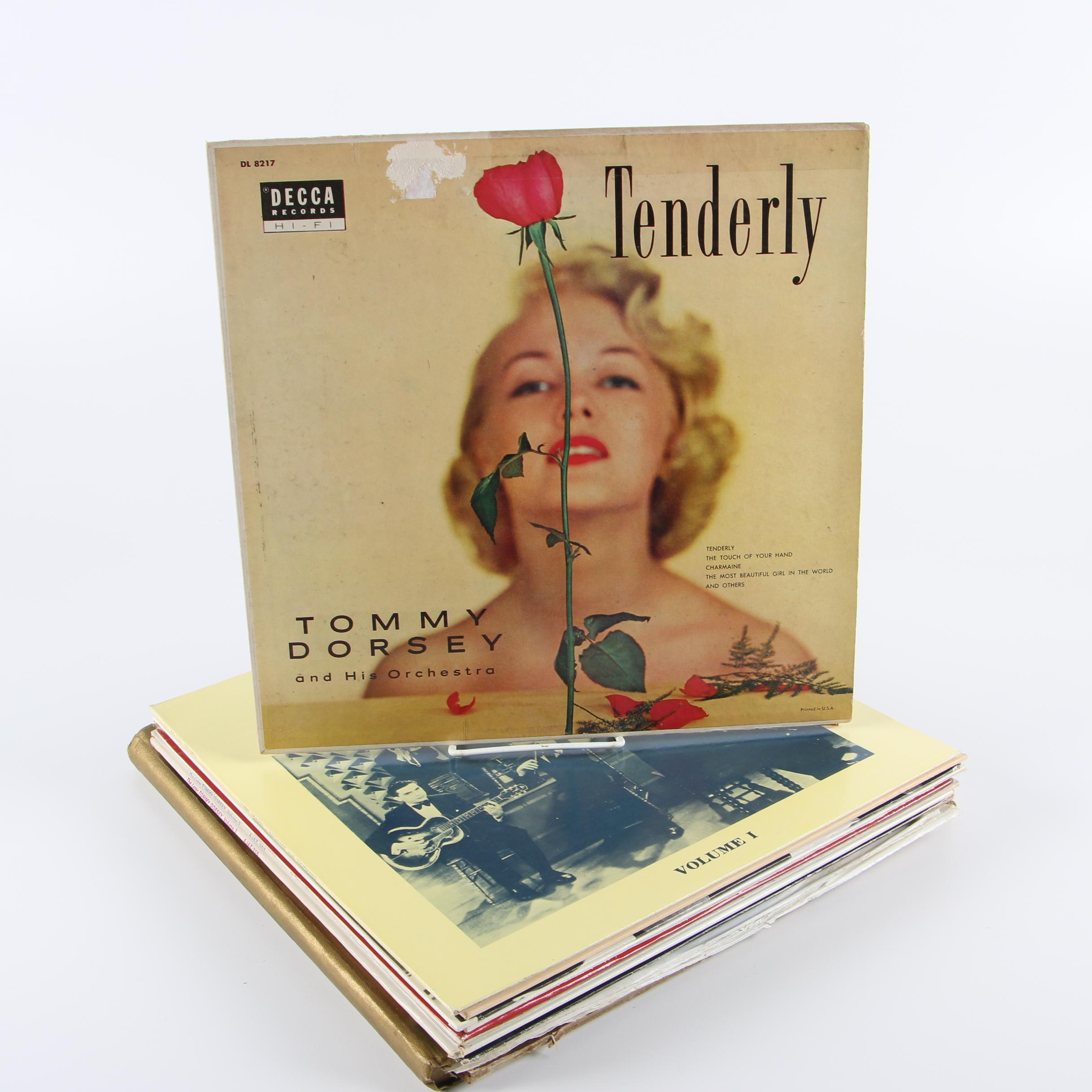 "Tommy Dorsey Vinyl Records including ""Tenderly"""