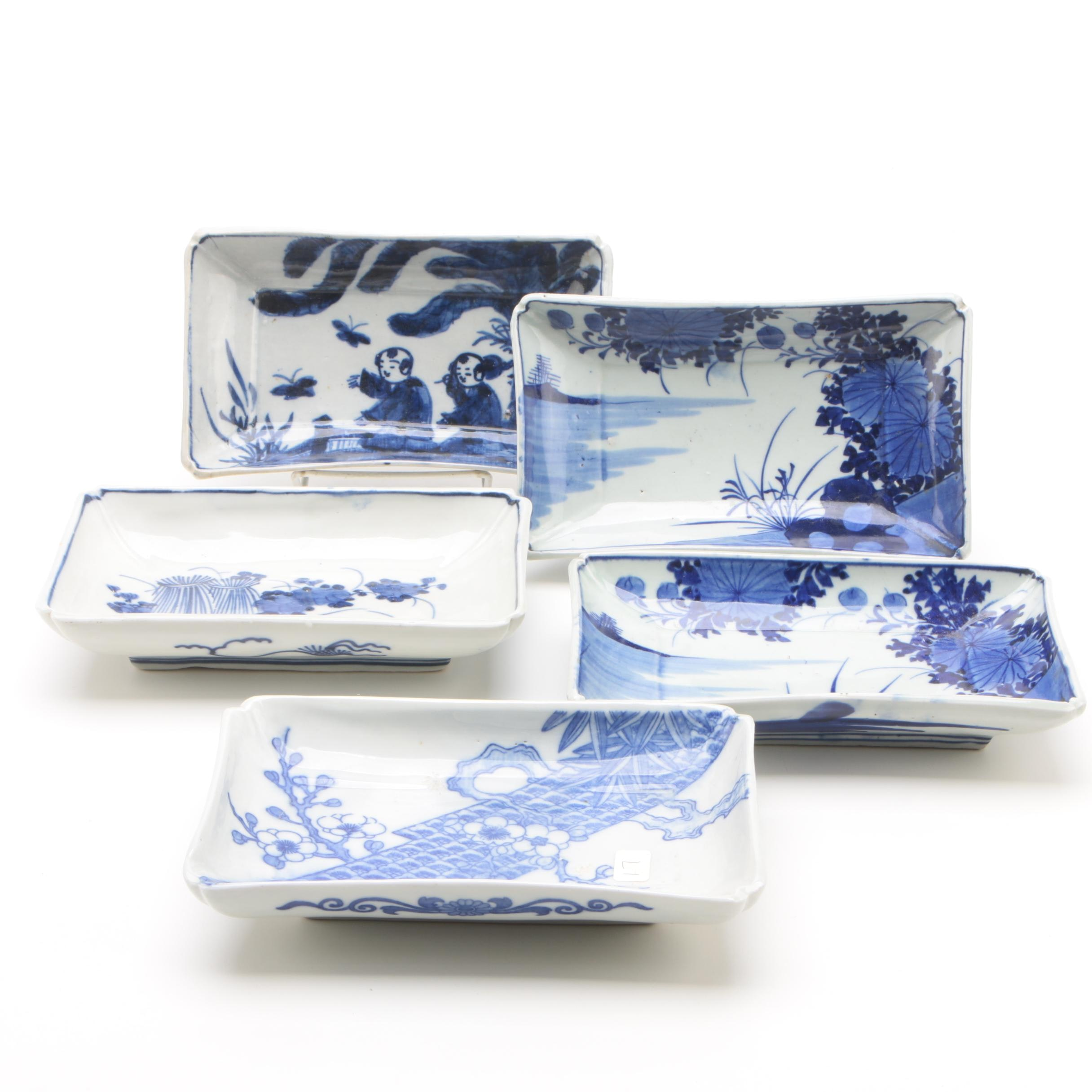 Chinese Export Blue and White Porcelain Serving Dishes