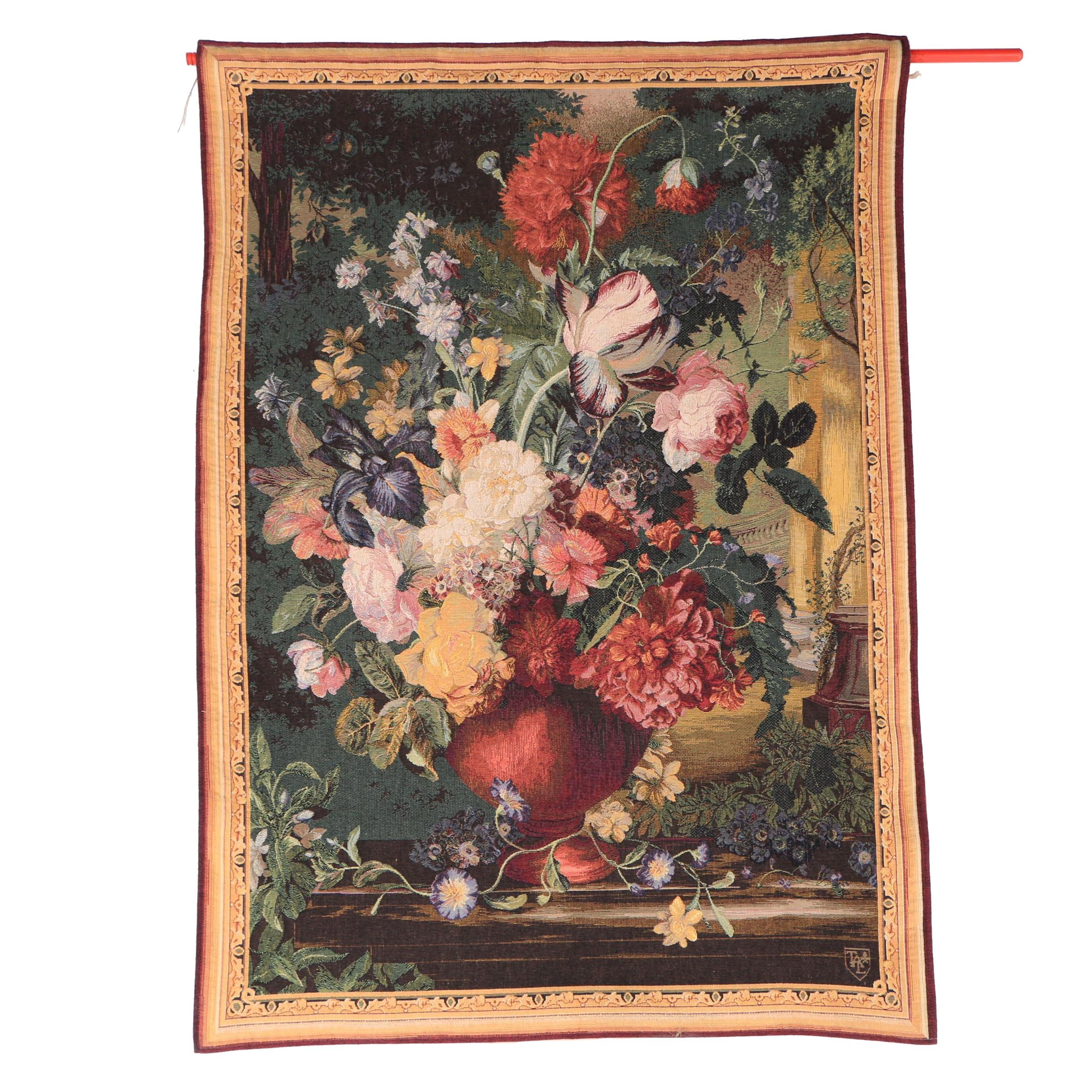 "Goblys French ""Bouquet Flamand"" Wool Blend Wall Hanging"