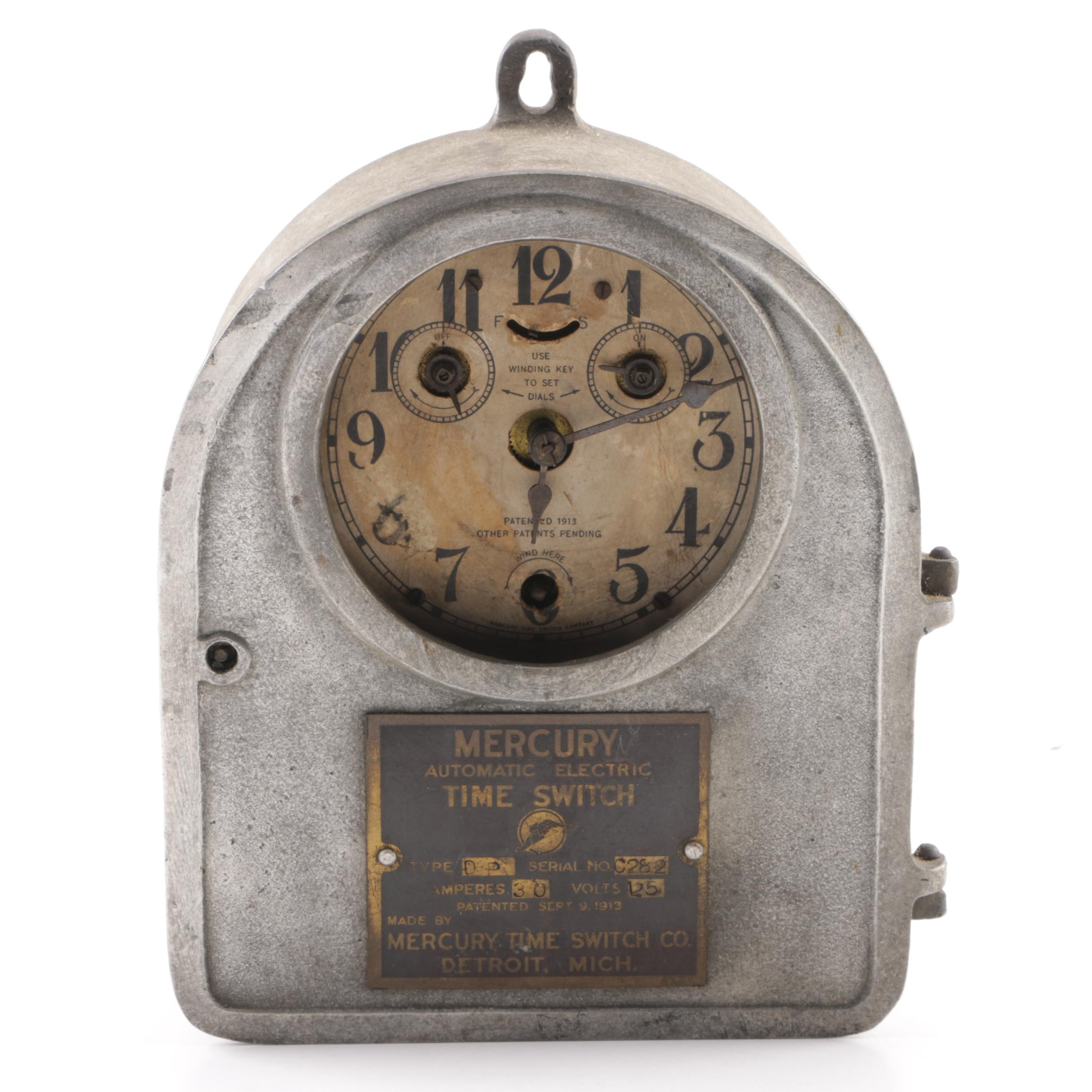 Antique Mercury Time Switch Clock