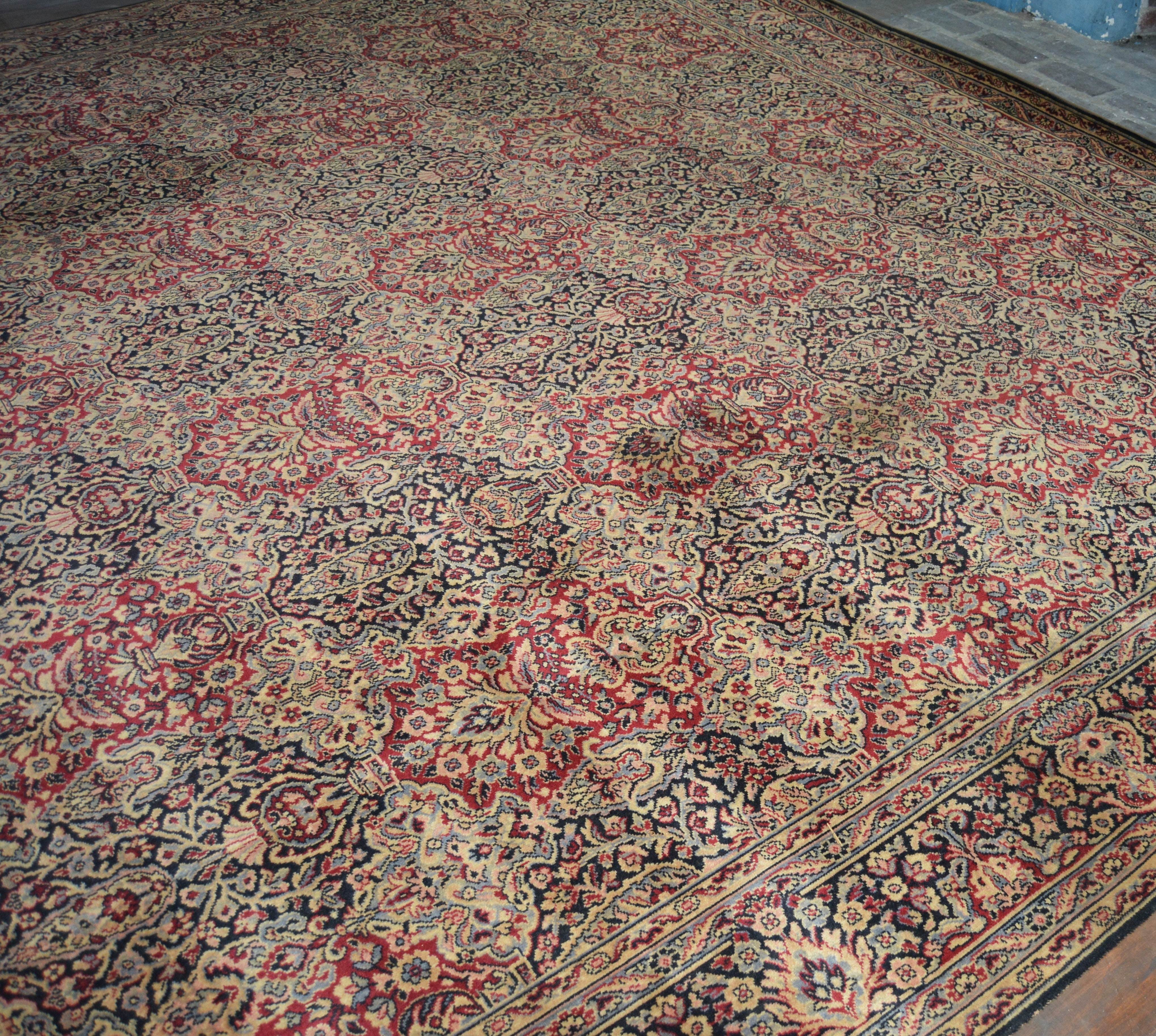 "Machine-Woven M.J. Whitall ""Anglo-Persian"" Wilton Weave Wool Area Rug"