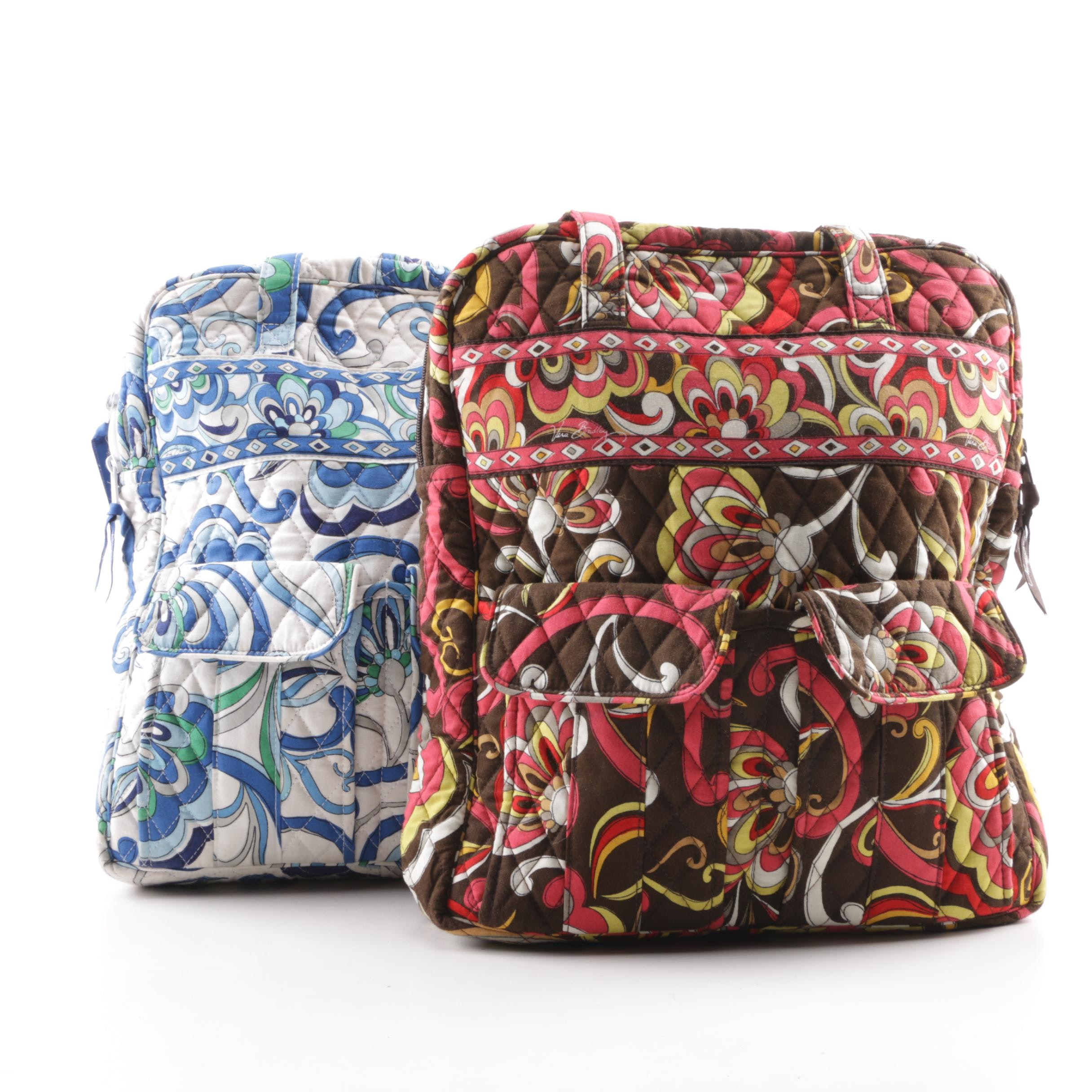 Vera Bradley Quilted Cotton Print Shoulder Bags