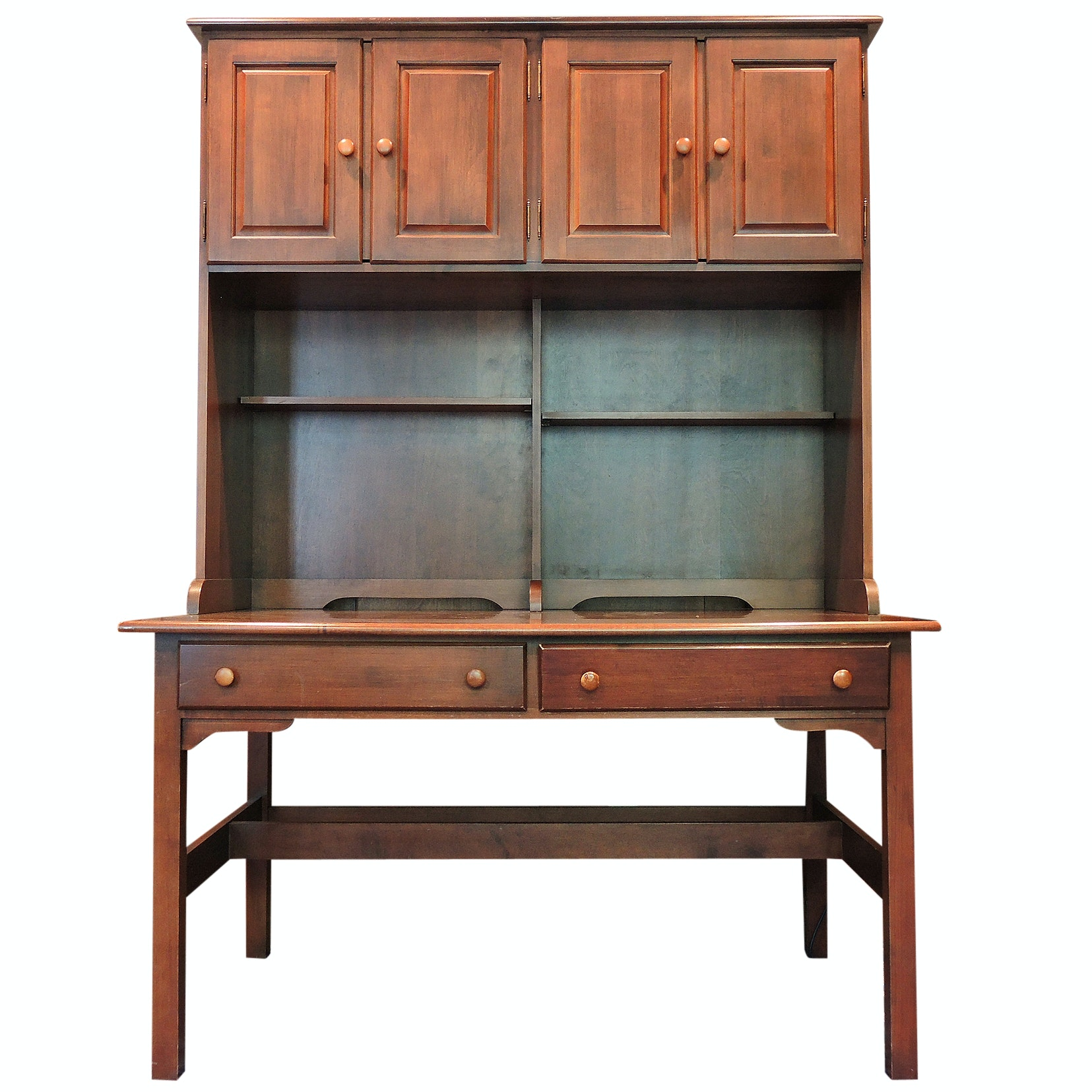 Contemporary Office Desk with Hutch by Moosehead Furniture