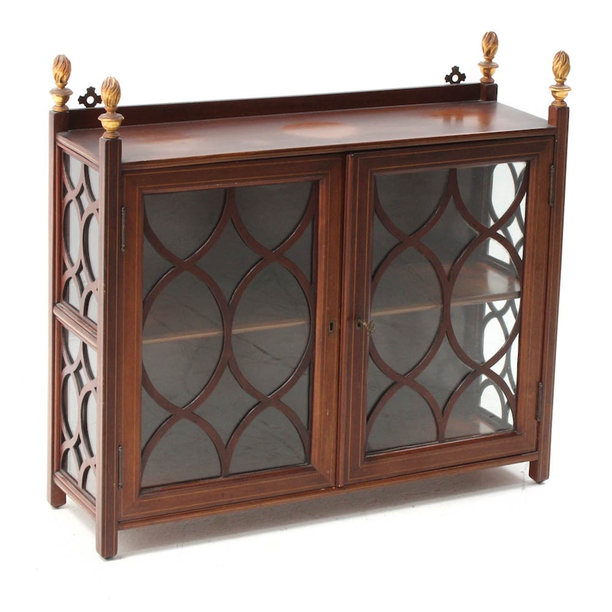 Prime 20Th Century Federal Style Mahogany Display Cabinet Download Free Architecture Designs Pushbritishbridgeorg