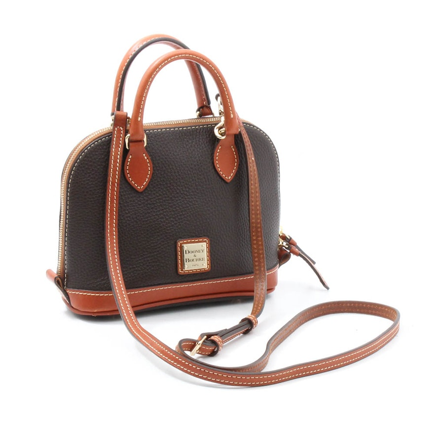 27aad2af308e Dooney   Bourke Pebbled Leather Top Handle Shoulder Bag   EBTH