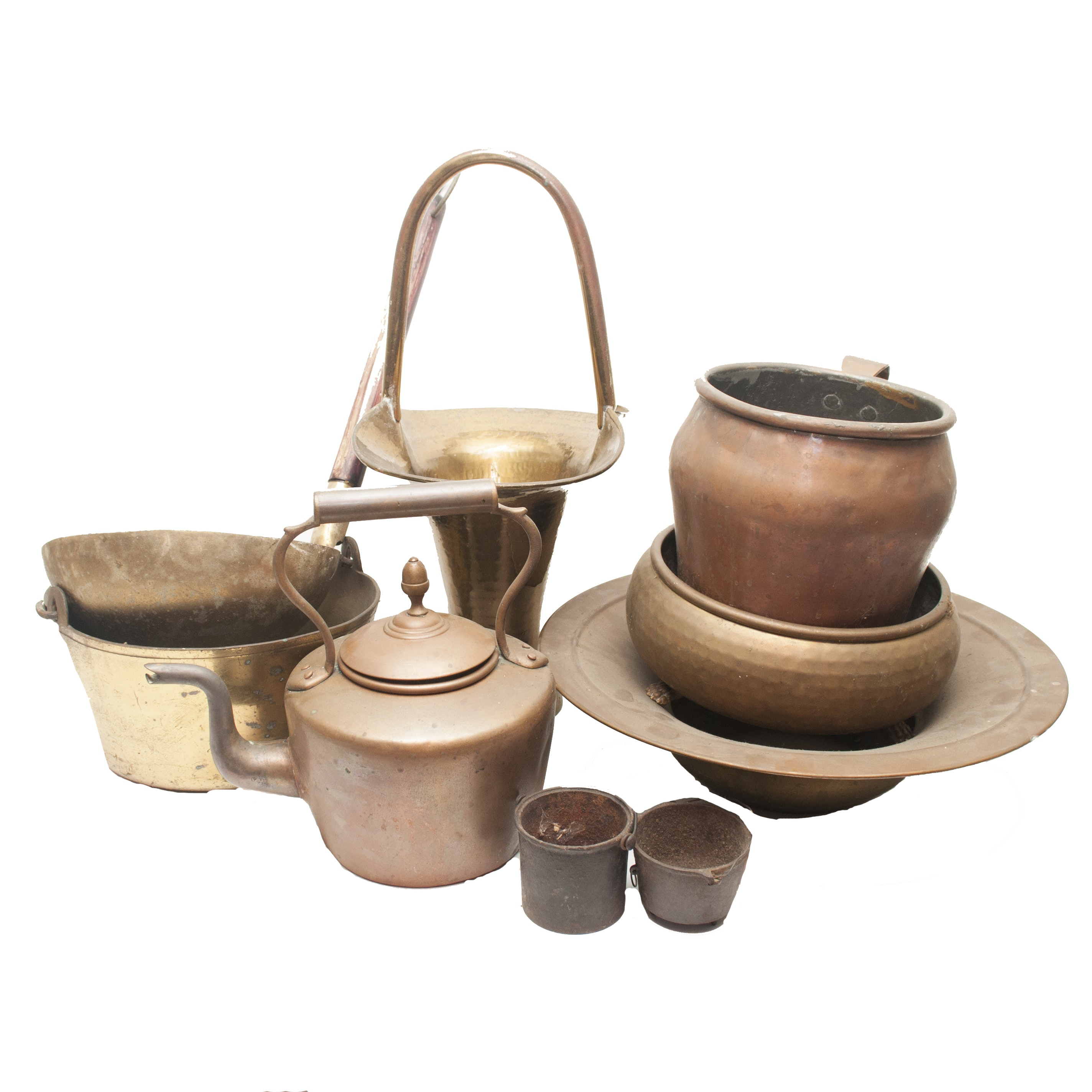 Antique Brass and Copper Pots and Pans