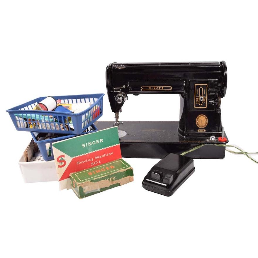 Vintage Singer 40A Sewing Machine EBTH Custom Singer 301a Sewing Machine