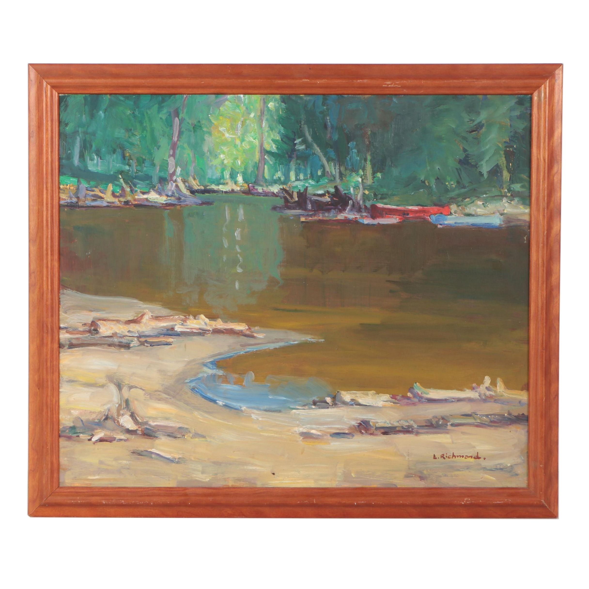 "Leonard ""Slim"" Richmond Landscape Oil Painting"