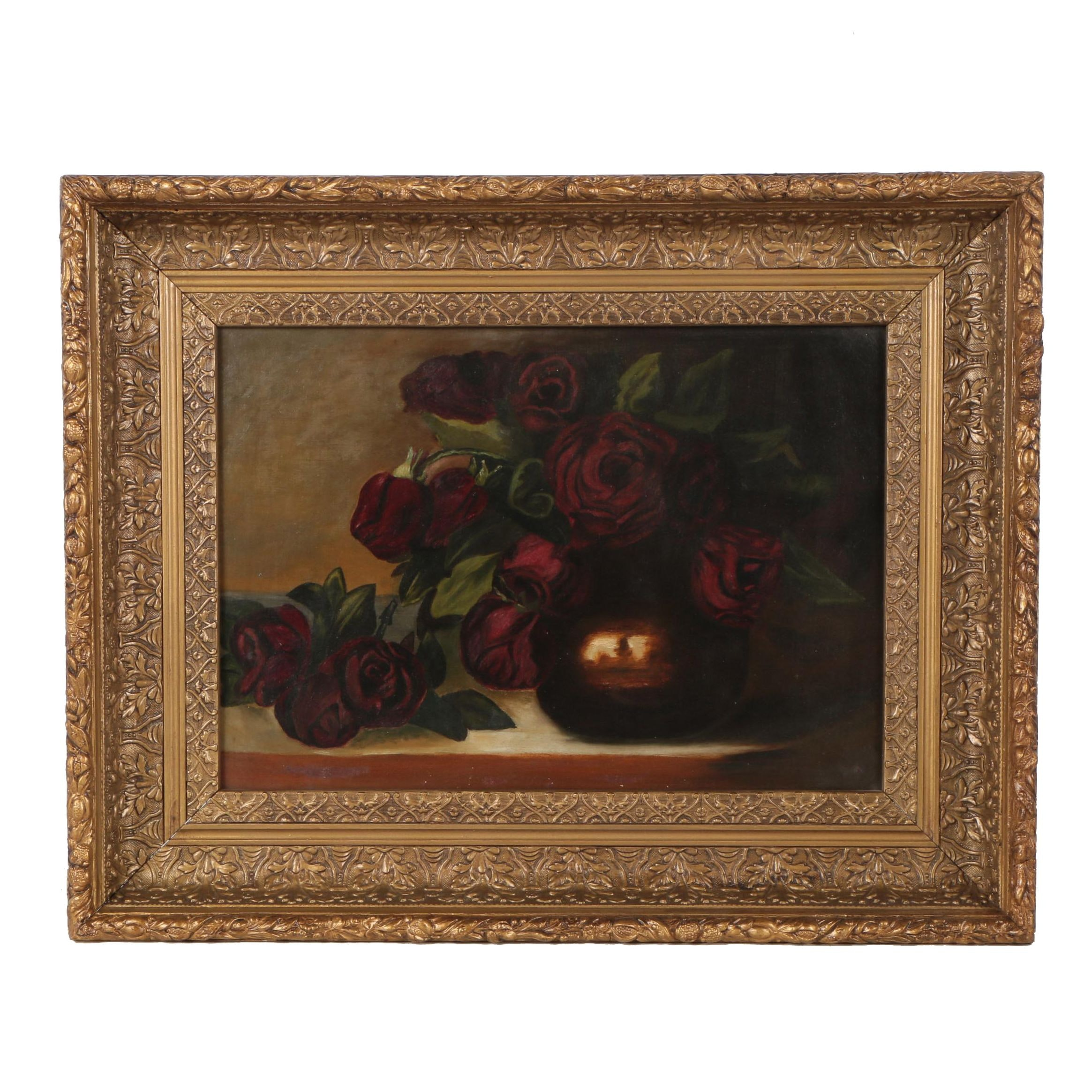 Early 20th Century Oil Painting of Still Life