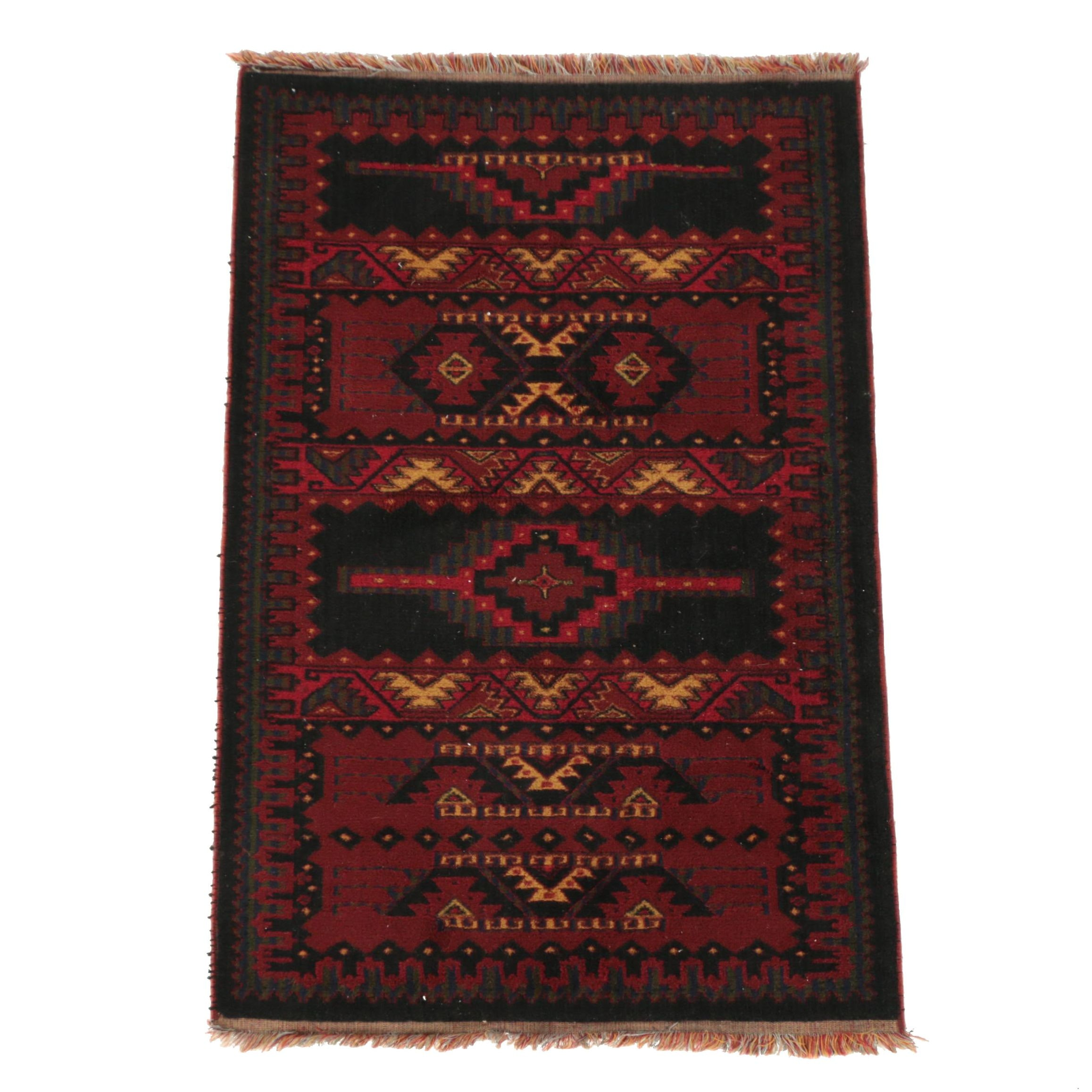 Power-Loomed Tribal-Style Accent Rug