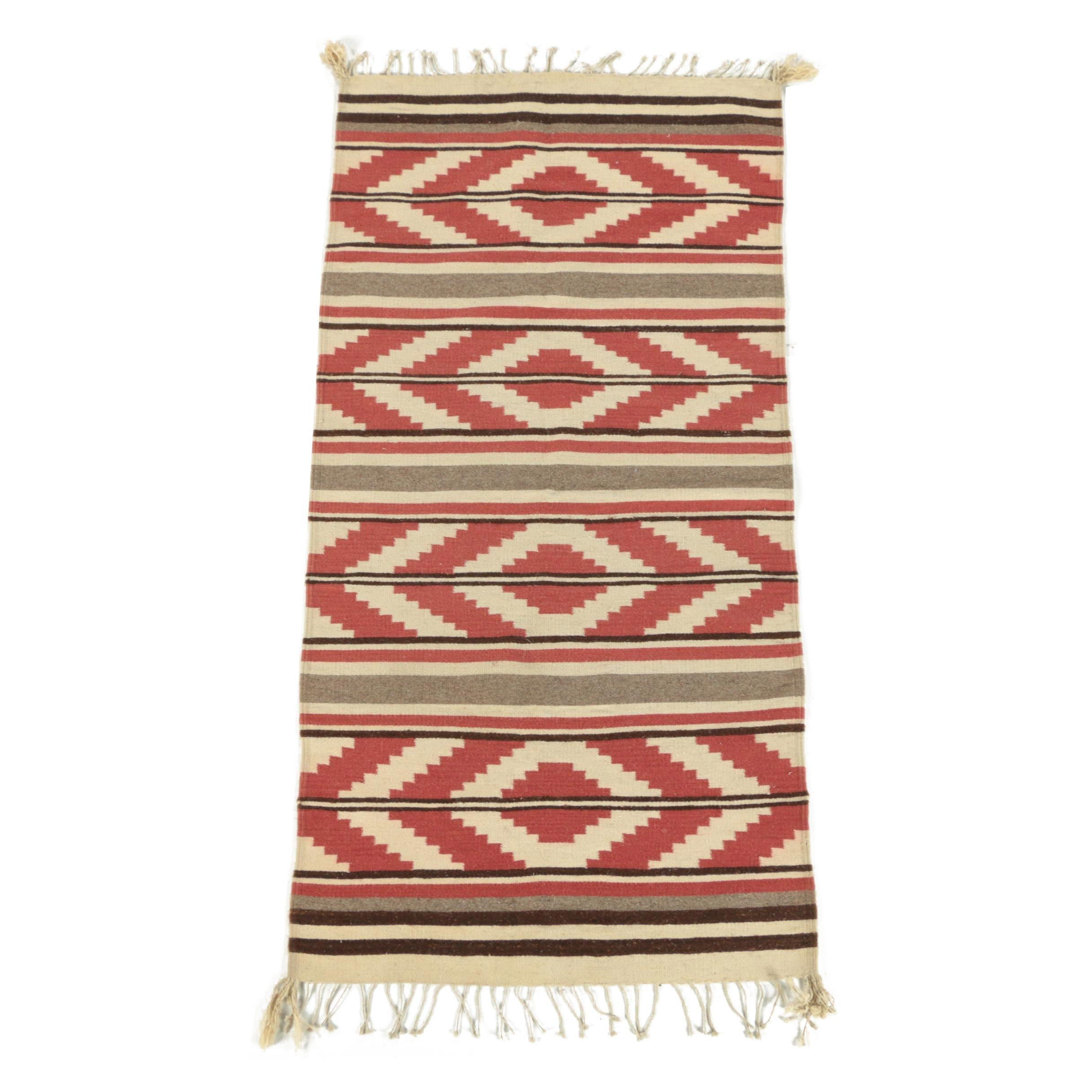 Handwoven Native American Style Wool Runner