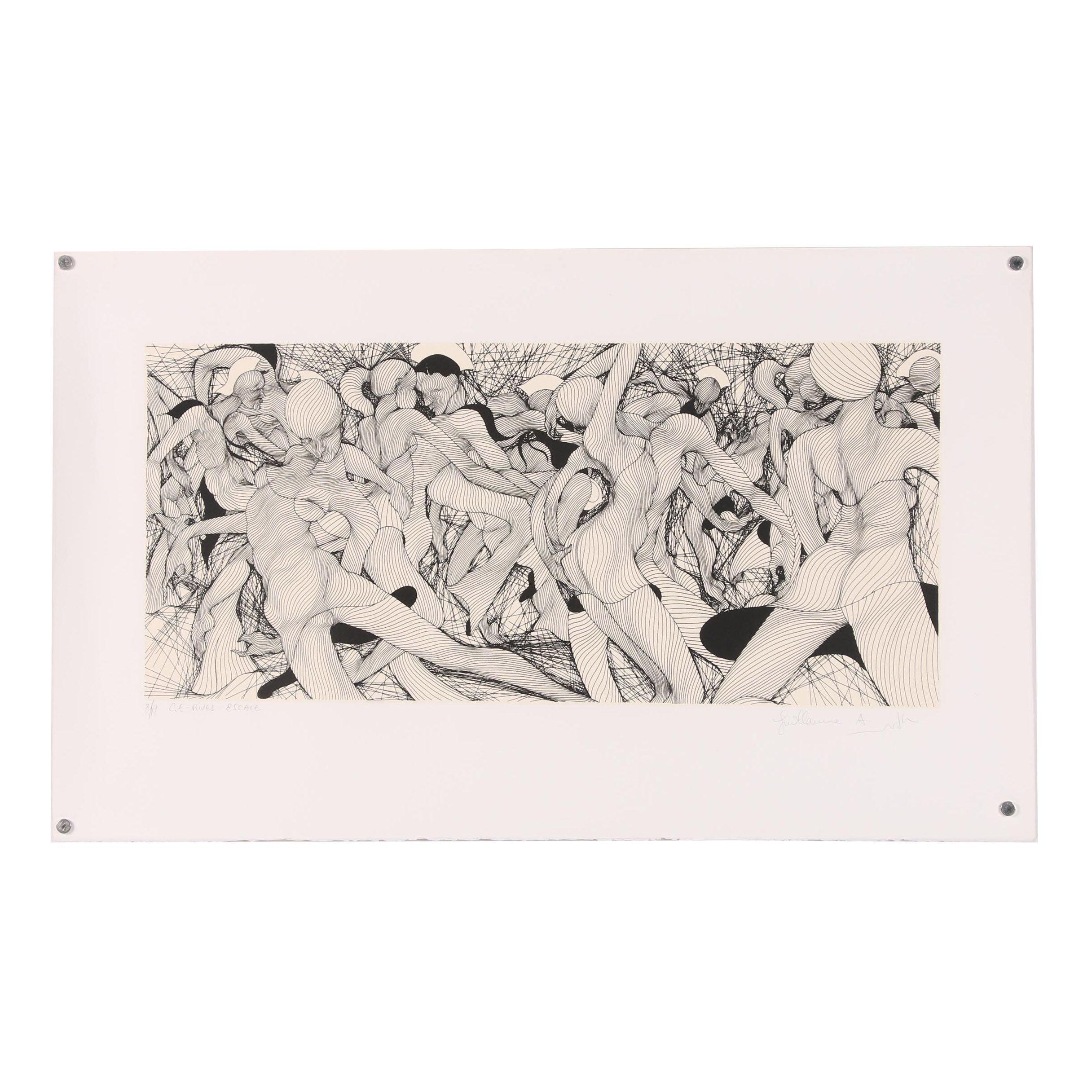 "Guillaume Azoulay Serigraph ""C.E.-Rives Escale"""