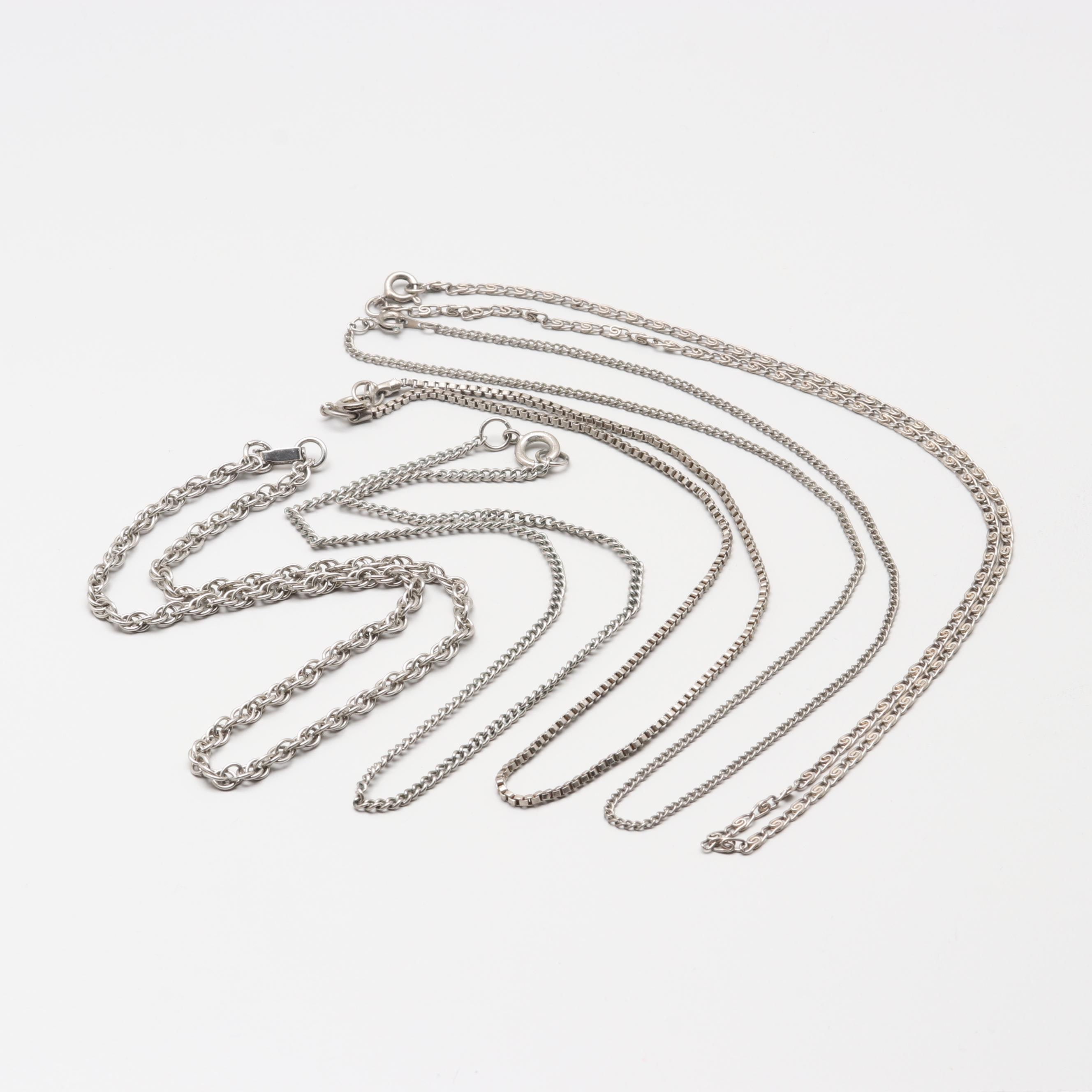 Silver Tone Chain Link Necklace Assortment