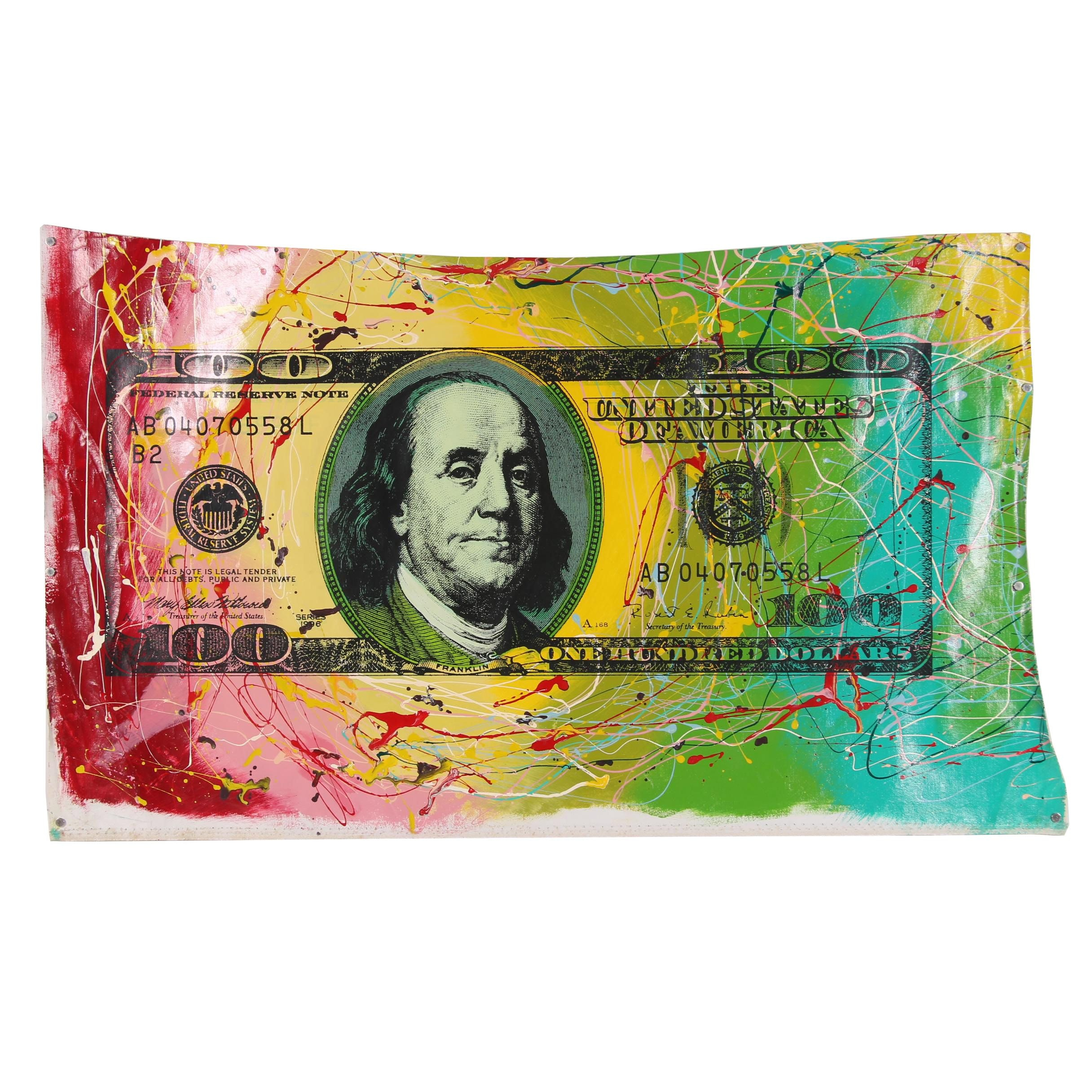 """Steve Kaufman Mixed Media """"Electric Currency"""""""