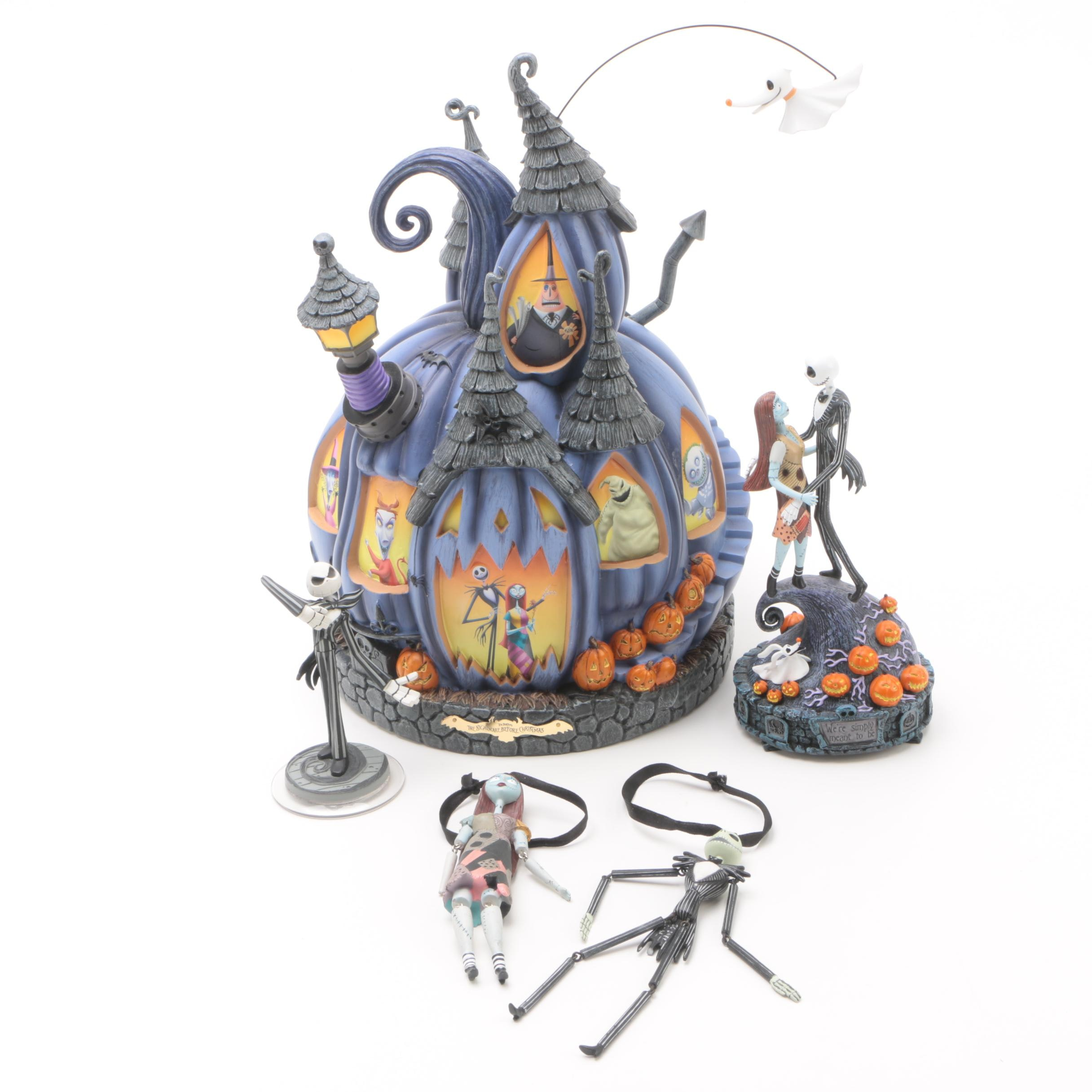 """Tim Burton's """"The Nightmare Before Christmas"""" Musical Figurines and Ornaments"""