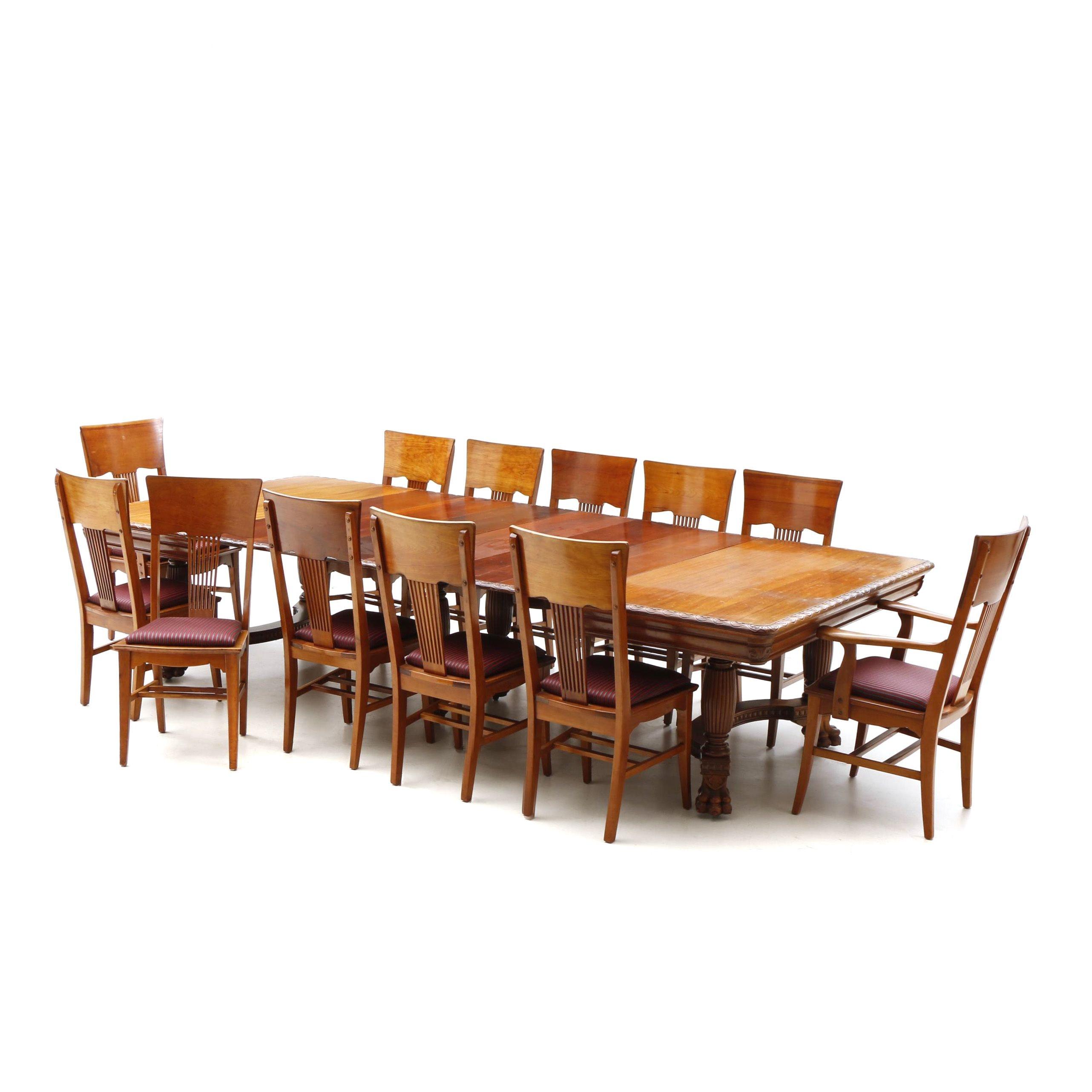 Late Victorian Mahogany Dining Room Set