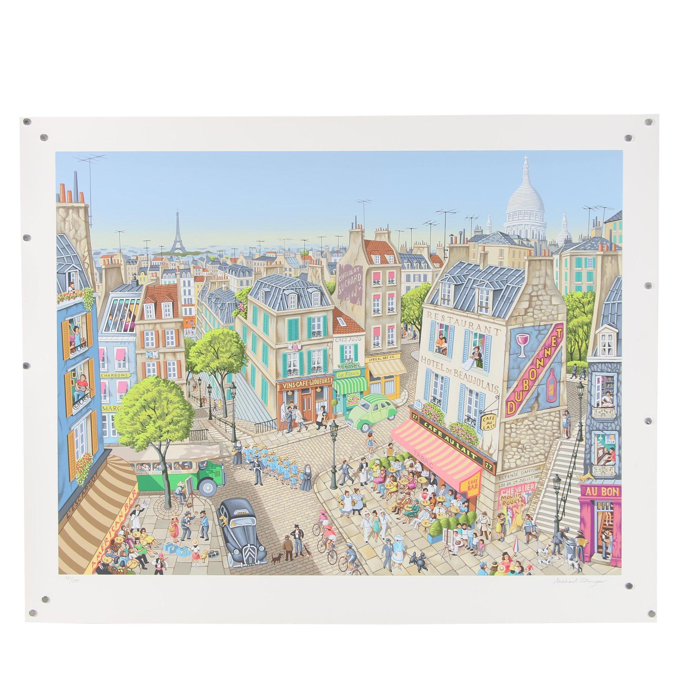 """Michael Stringer Serigraph """"La Vie Parisienne"""""""