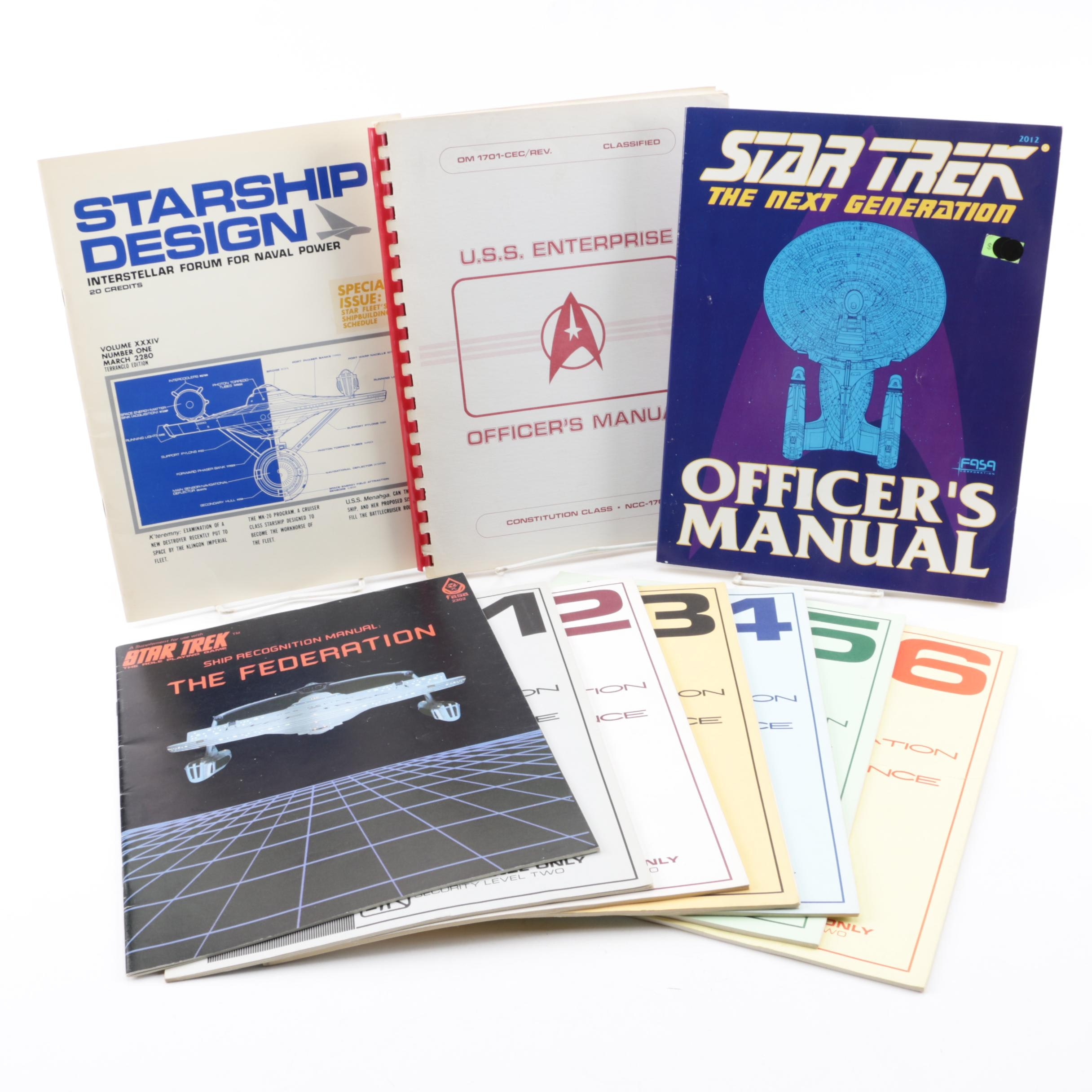 """Star Trek"" Books and Magazines including ""Federation Reference Series"""