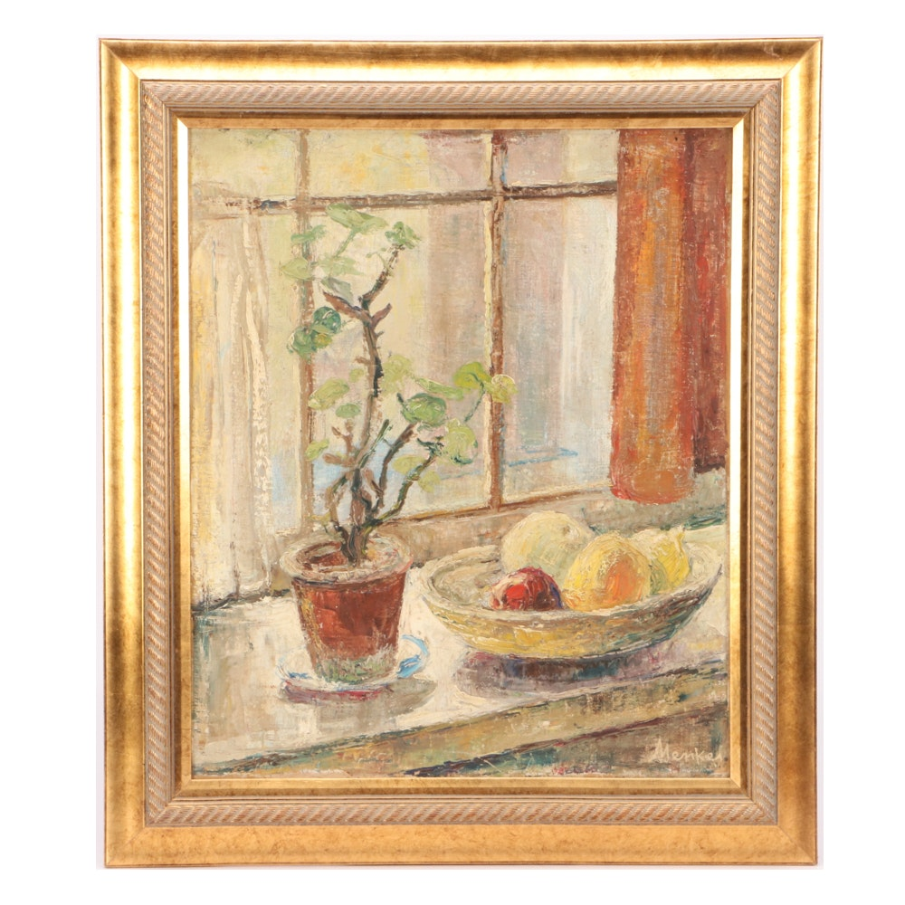 Sigmund Joseph Menkes Oil Still Life Painting