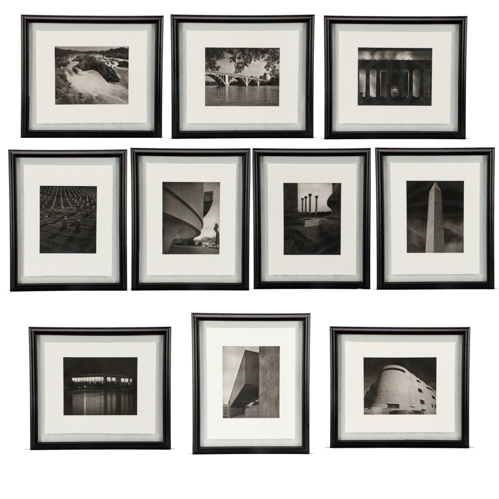 "Ten Tom Baril 2004 Photogravures from ""Washington D.C."" Series"