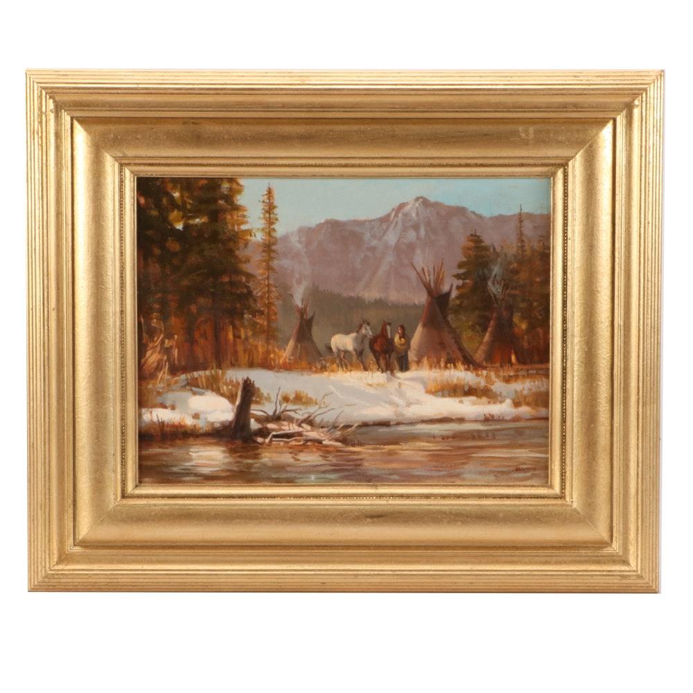 "Joe Abbrescia Oil Painting ""The Morning Sun"""