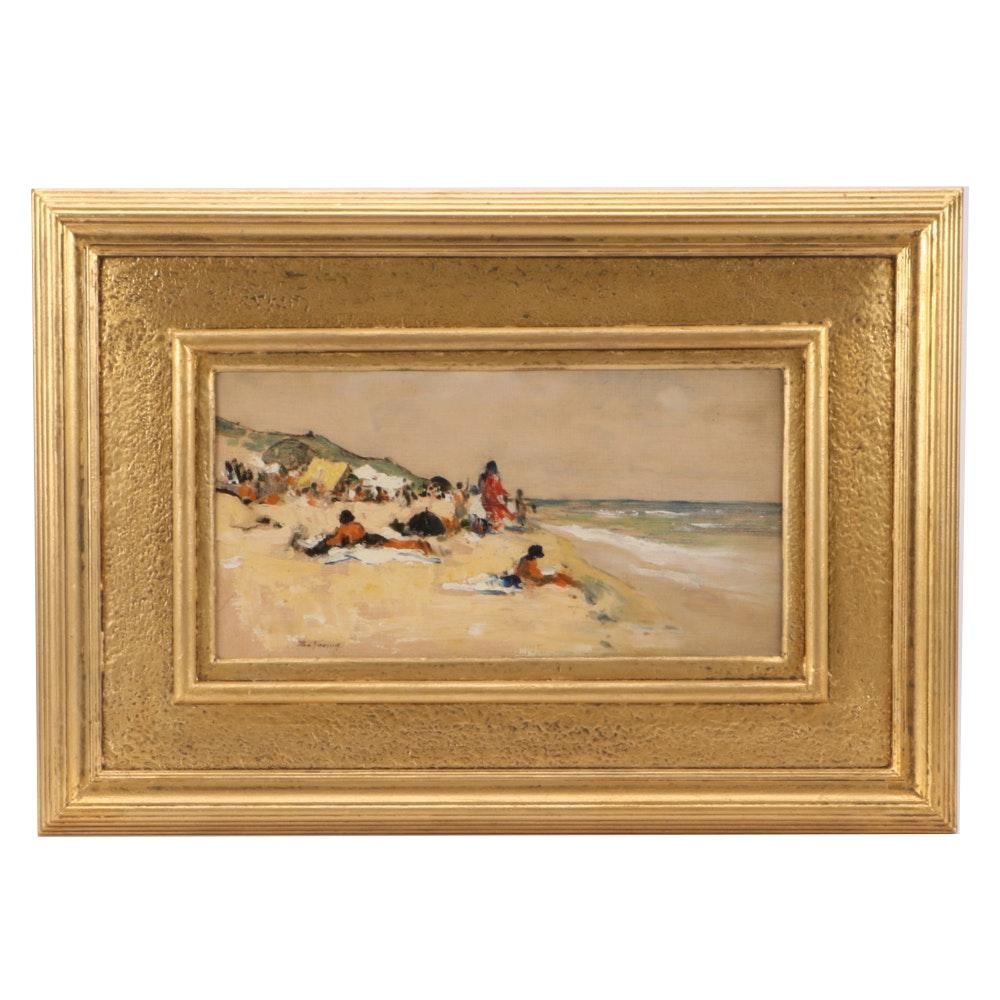Pan Joanid Impressionist Coastal Scene Oil Painting