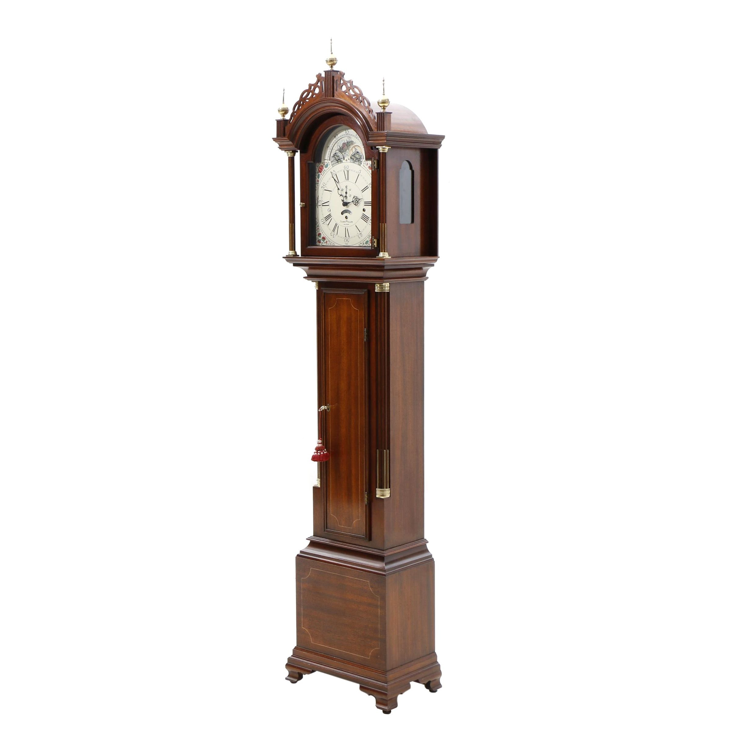 Vintage Aaron Willard Grandfather Clock with Sligh Movement