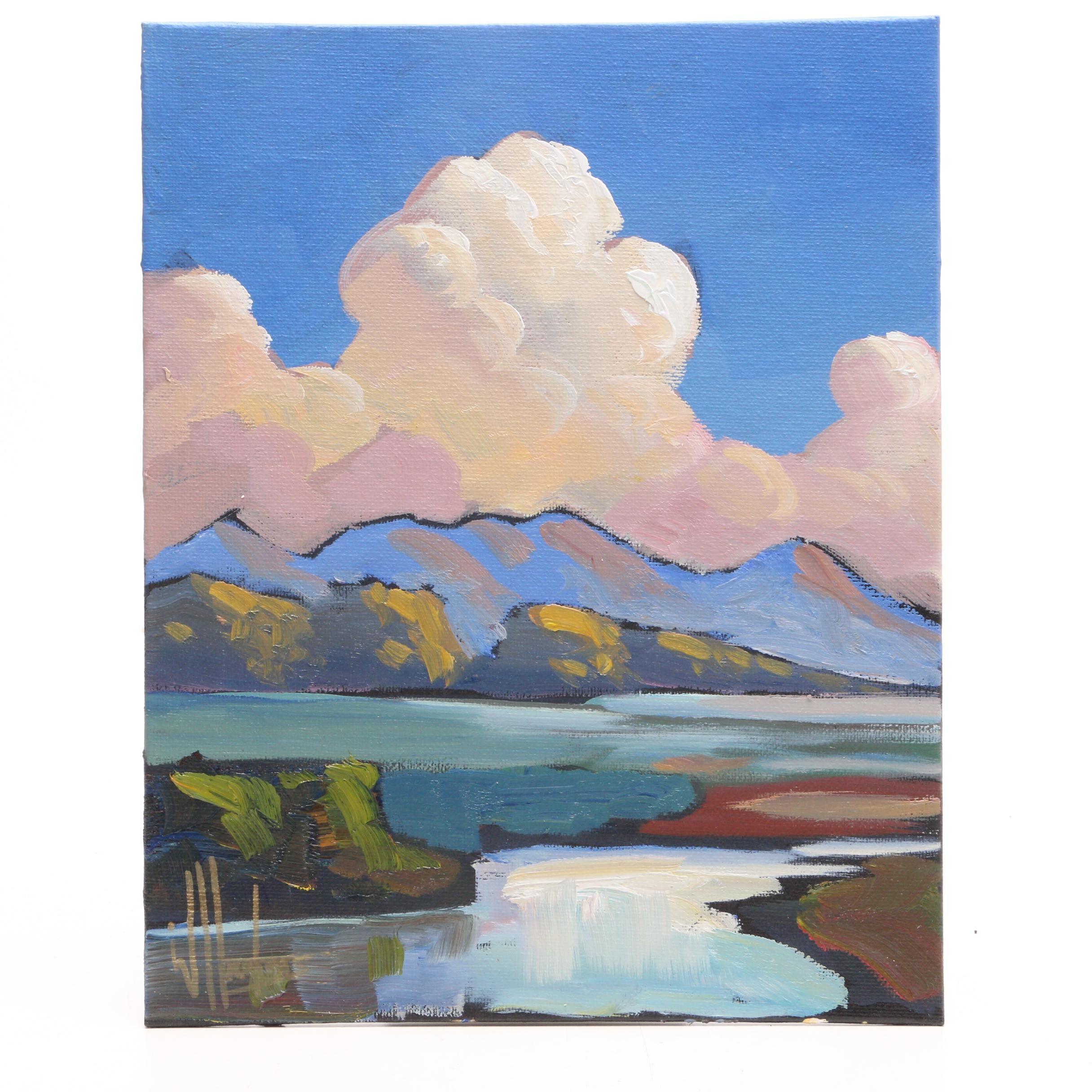William Hawkins Contemporary Oil Landscape Painting