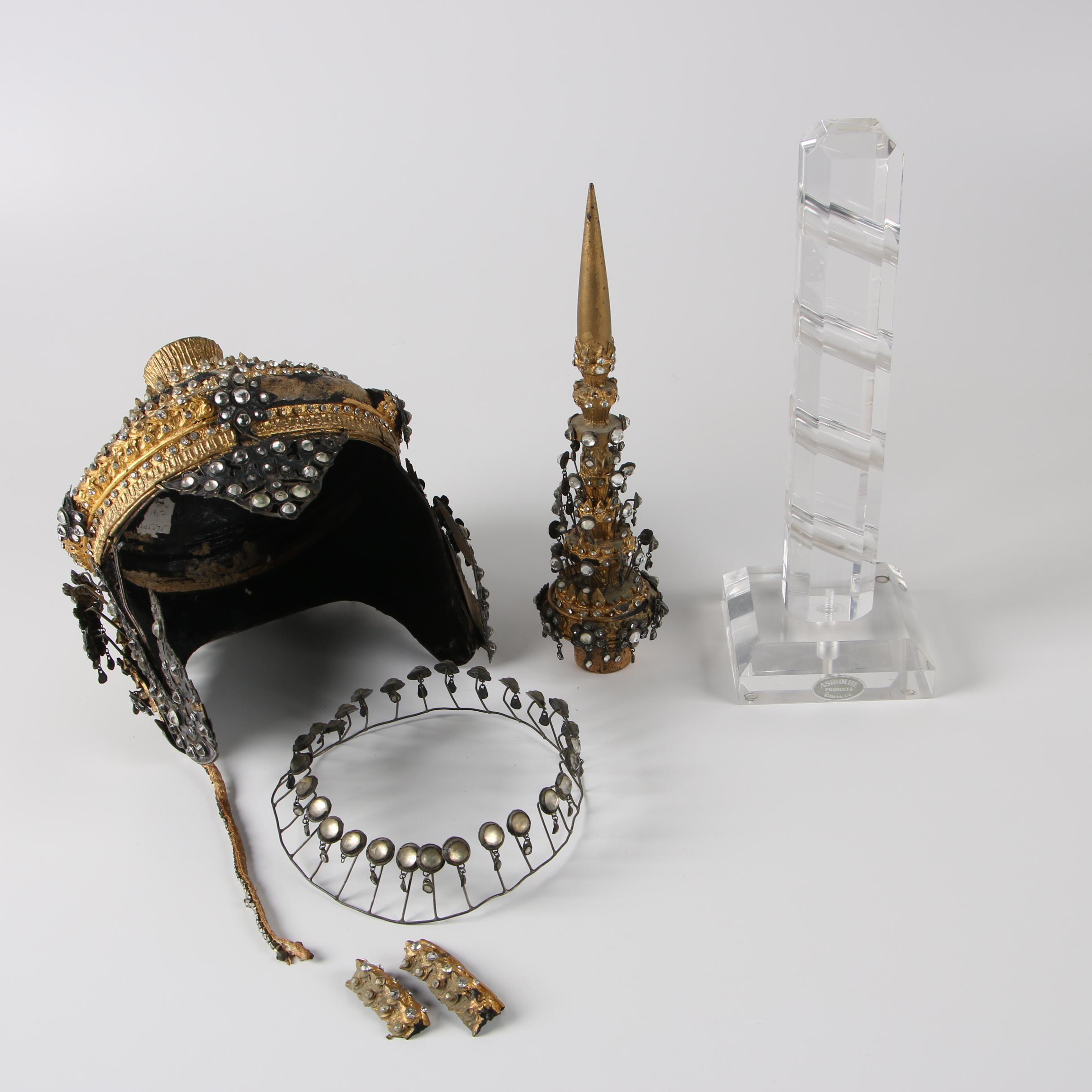 Contemporary Reproduction Thai Ram-Thai Crown Dancer Headdress