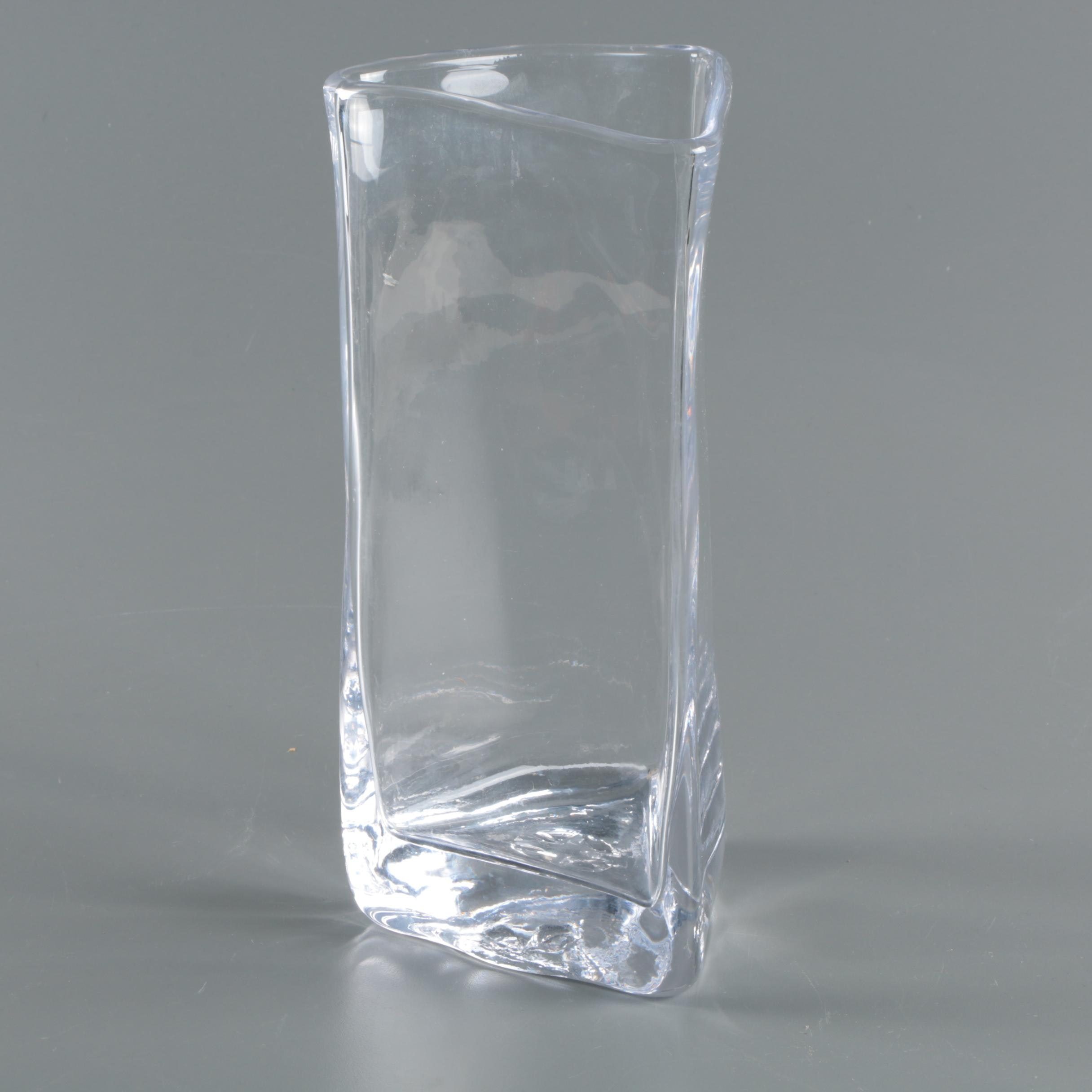 """Simon Pearce """"Coventry"""" Handcrafted Glass Vase"""