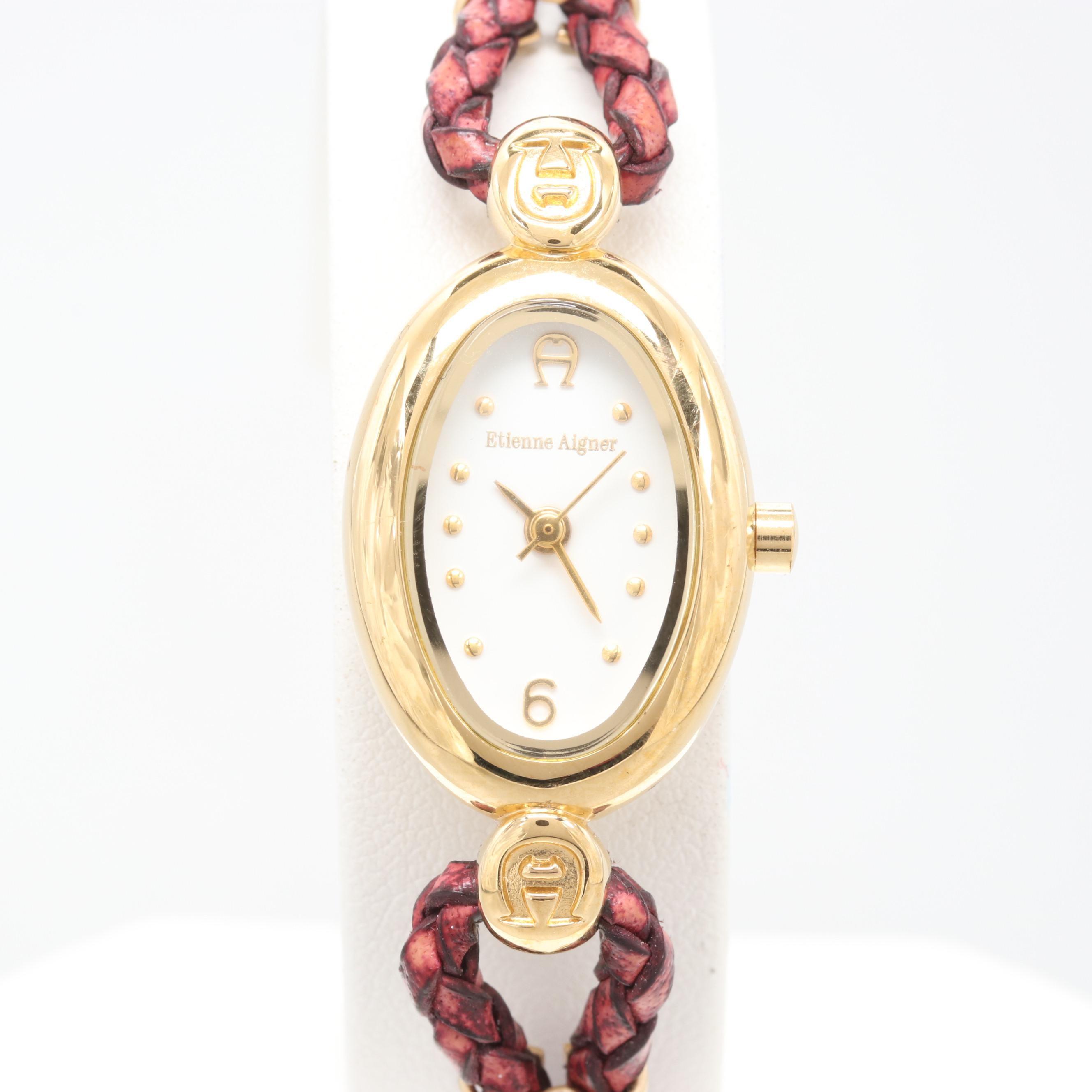 Etienne Aigner Gold Tone Wristwatch