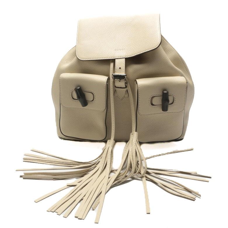Gucci Bamboo Sac Leather Backpack