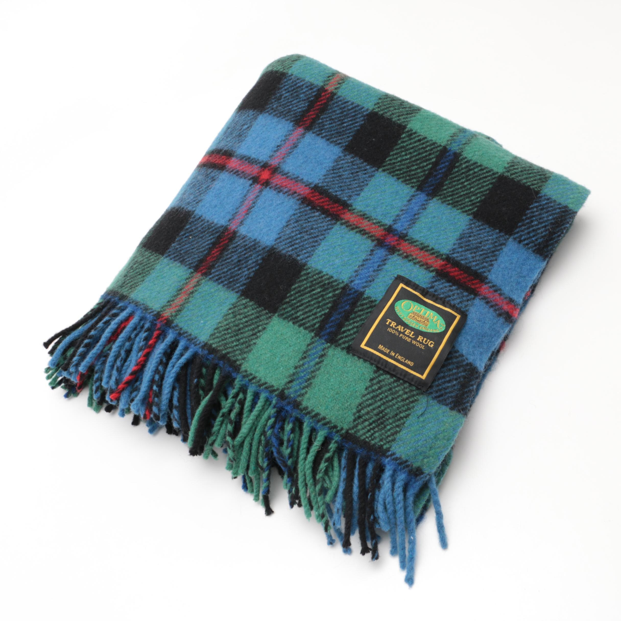 "English Optima Wool ""Travel Rug"" Blanket"