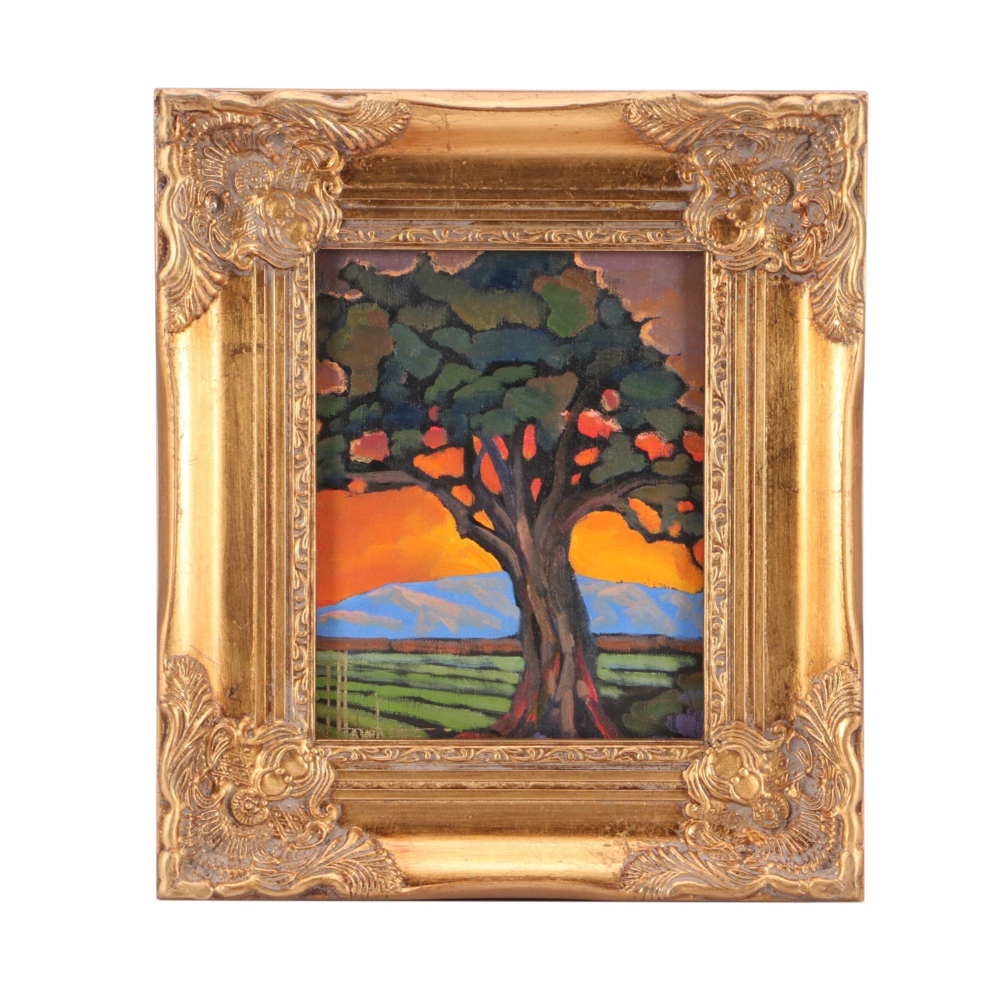 William Hawkins Contemporary Impressionist Oil Landscape Painting