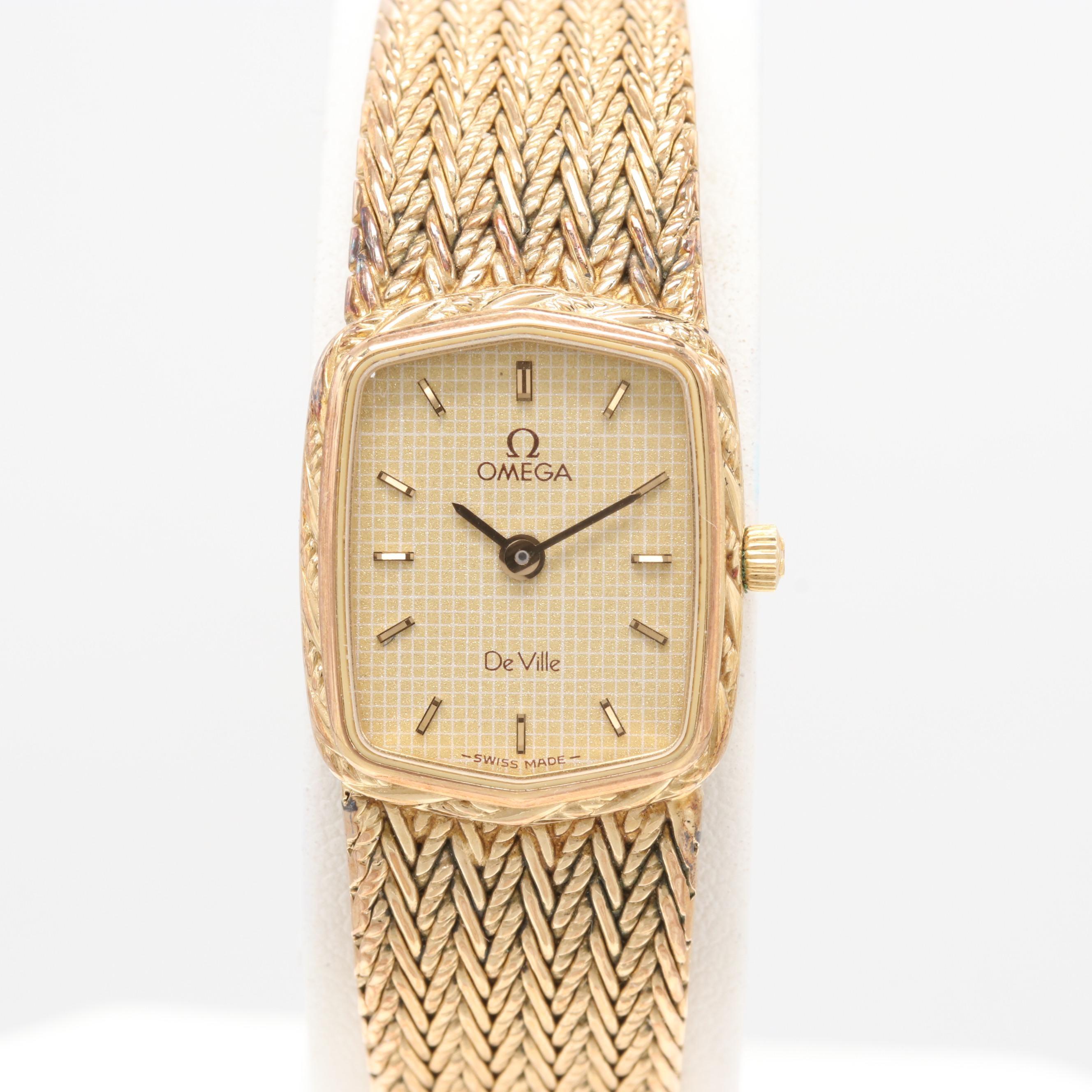 Omega DeVille 1375 Quartz Gold Plated Wristwatch