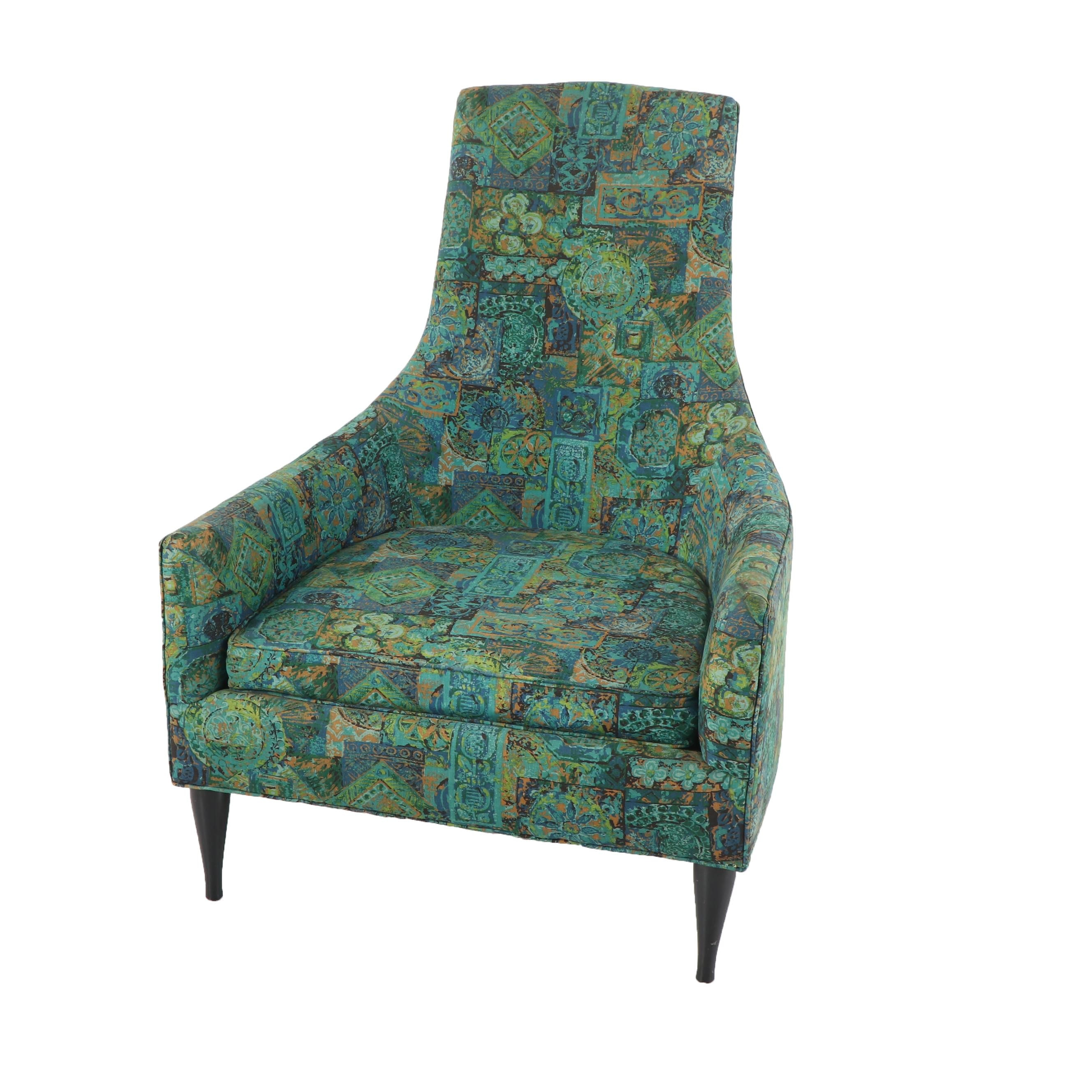 Mid Century Modern Upholstered Armchair, Mid 20th Century
