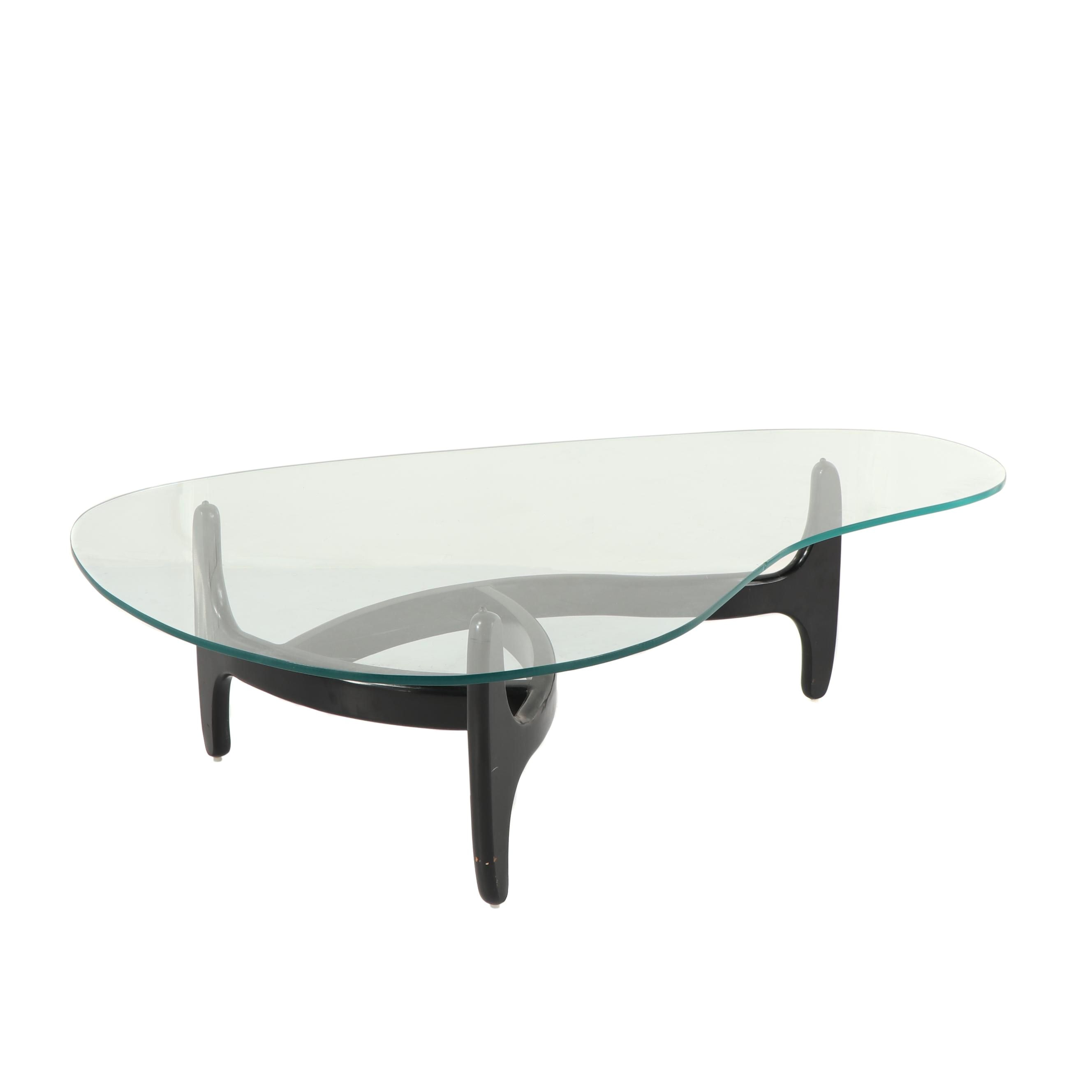 Modern Style Glass Top Coffee Table, 21st Century